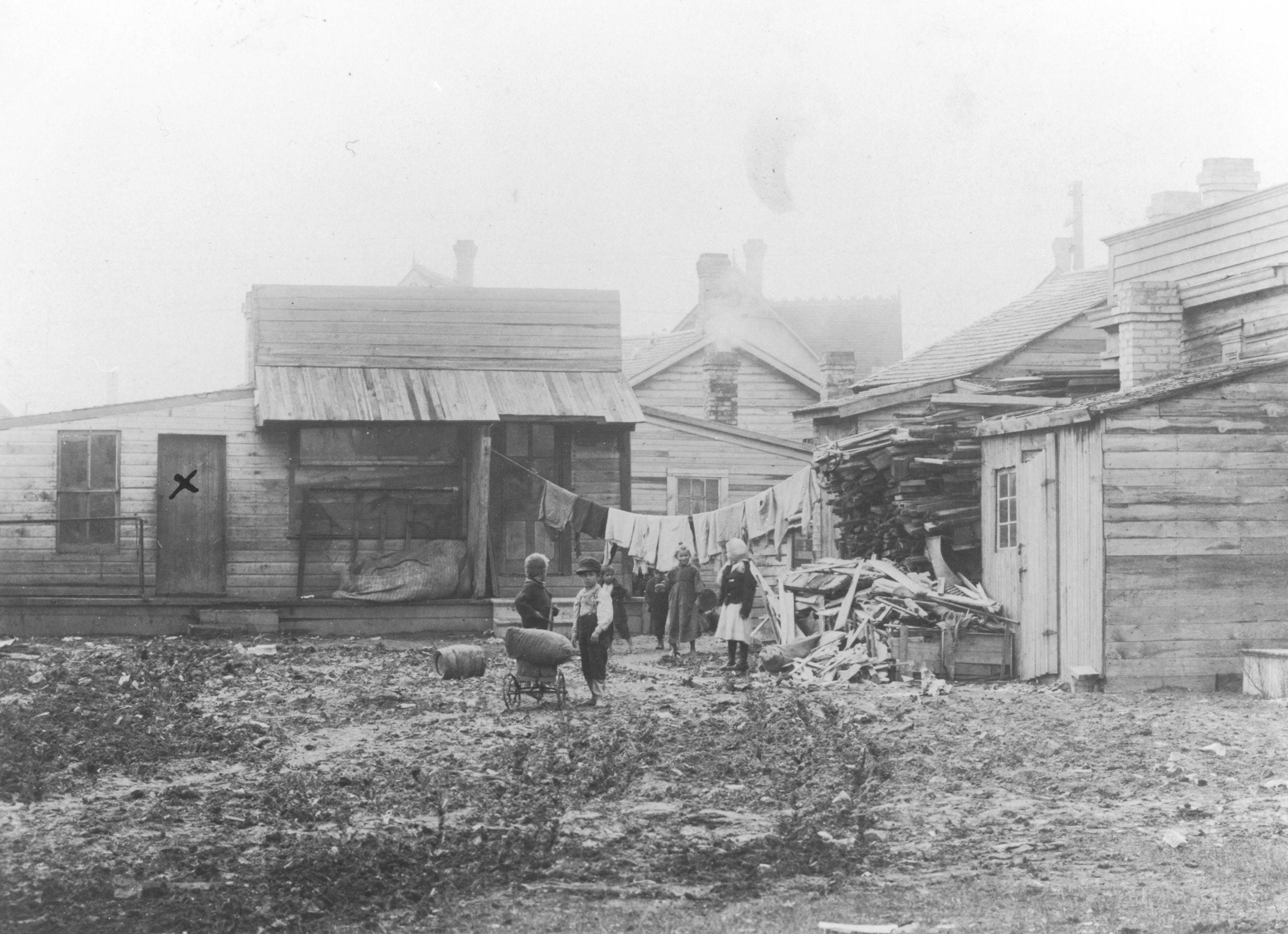 Working and living conditions were appalling for many people during the turn of the 20th century in Winnipeg. (Archives of Manitoba)