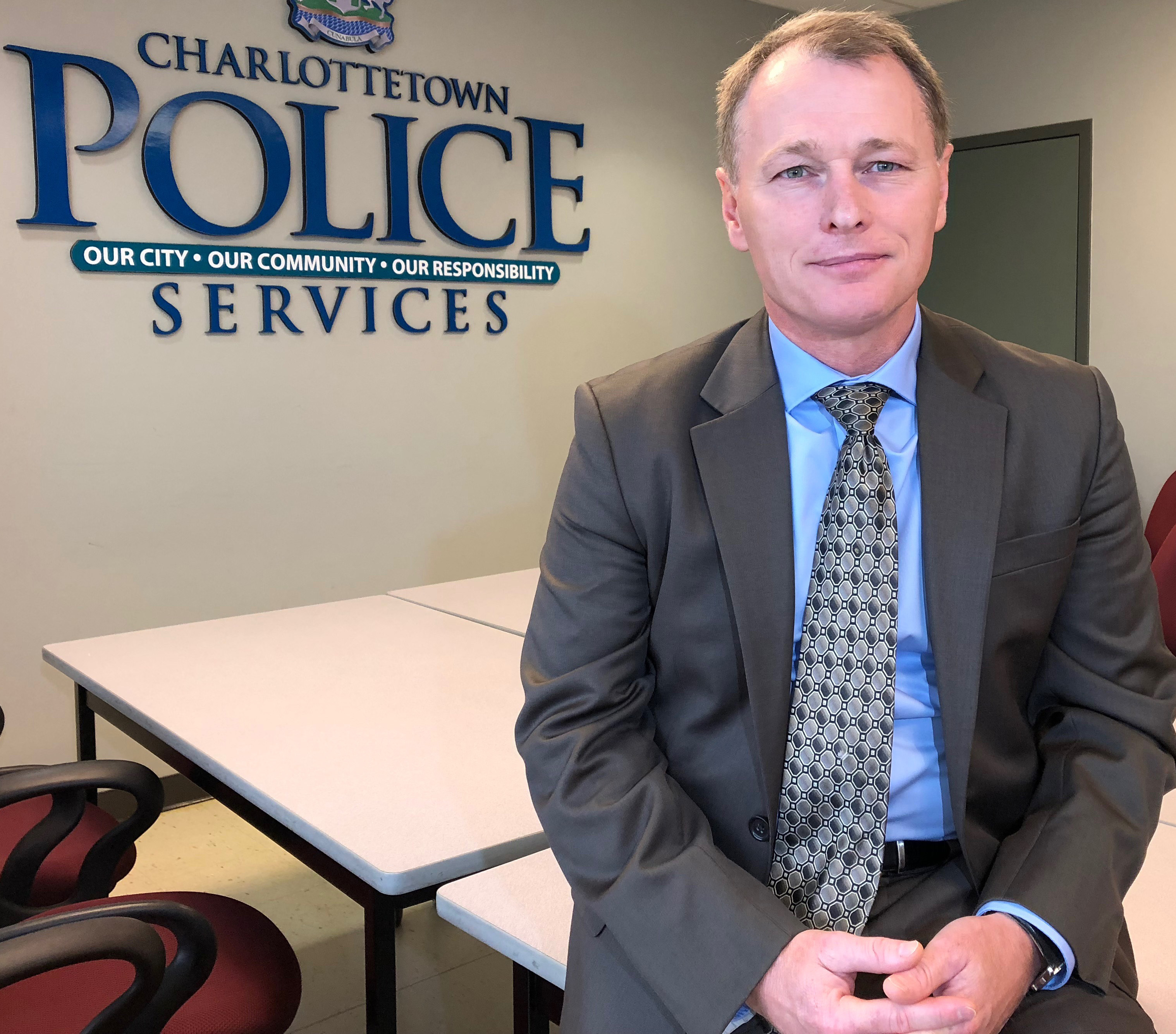 Brad MacConnell, now Charlottetown's deputy police chief, was a member of an RCMP and Charlottetown Police joint task force assigned to investigate the bombings. (Ken Linton/CBC)