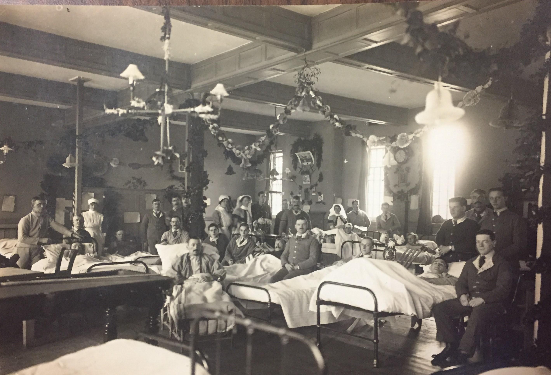 Helen Jones shown at St. Bartholomew's Hospital in London. (Nova Scotia Archives)