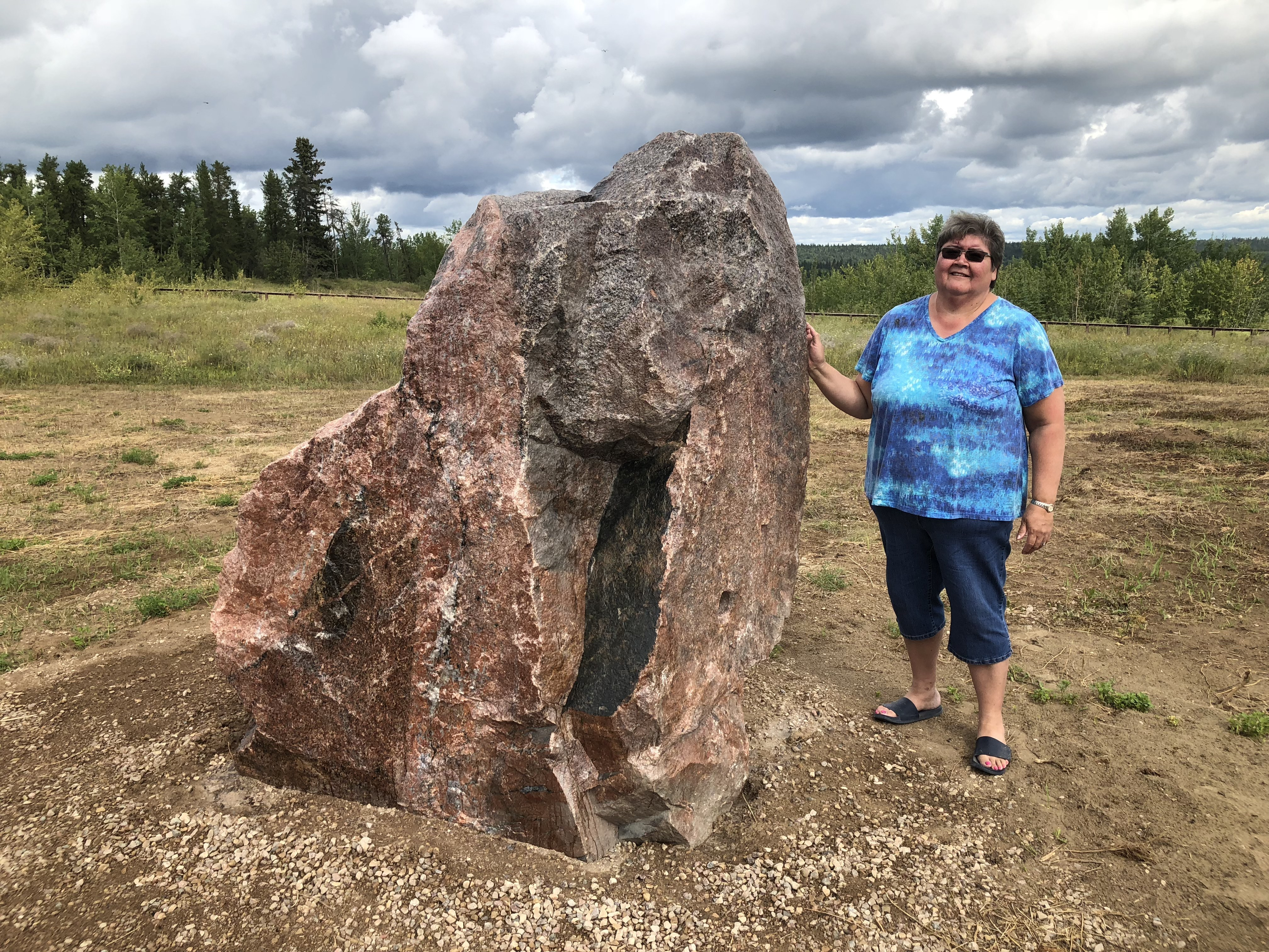 Jeanie Marie-Jewell thinks she would have more of a connection to her culture if the landslide hadn't happened. (Rachel Zelniker/CBC)