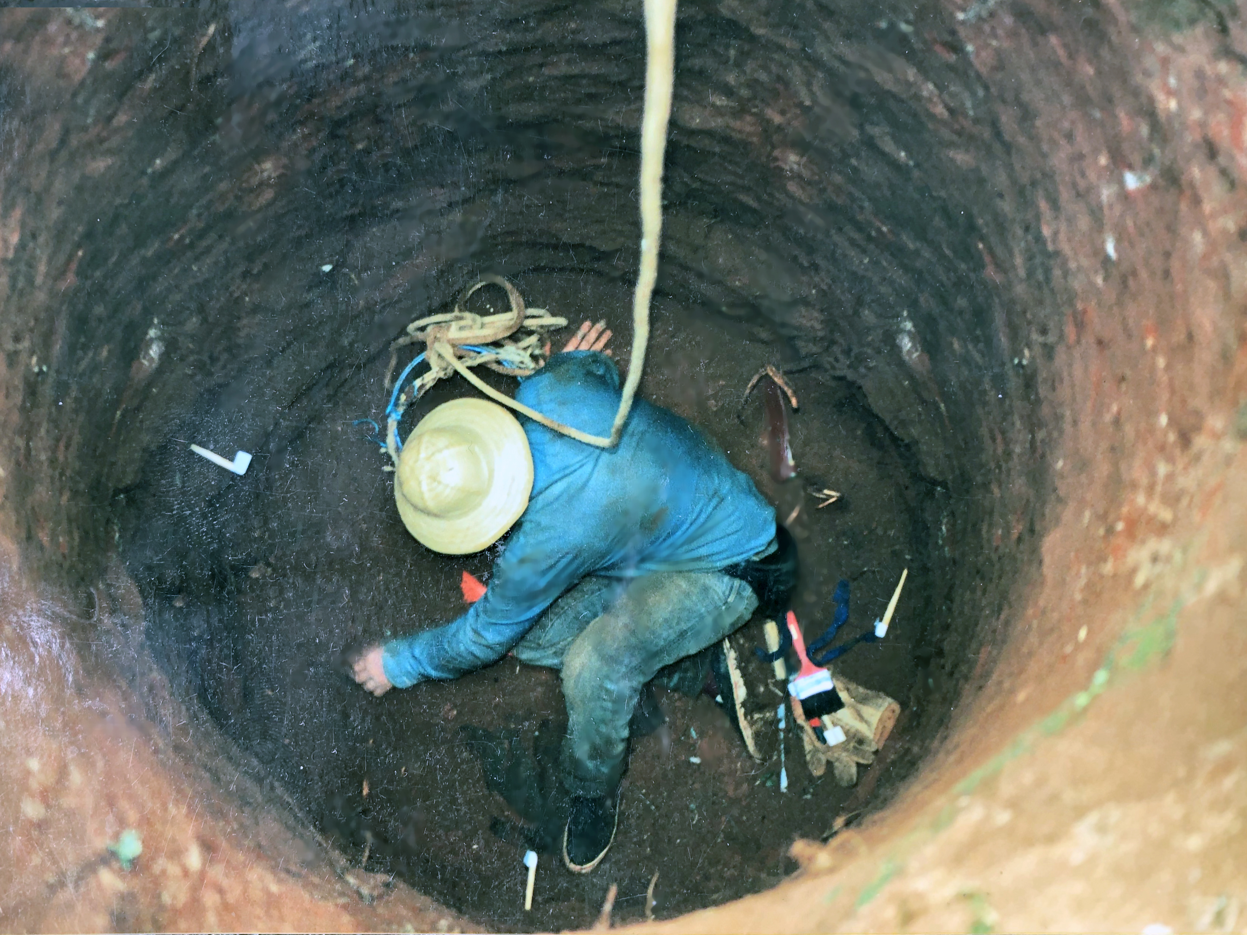 The well in Dos Erres was examined during a dig by forensic anthopologists that was organized by Aura Elana Farfan. (Submitted by FAMDEGUA)