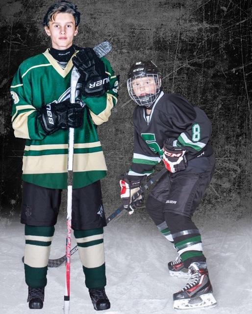 Ryder, left, and Radek loved the game of hockey (Tracy Stark)