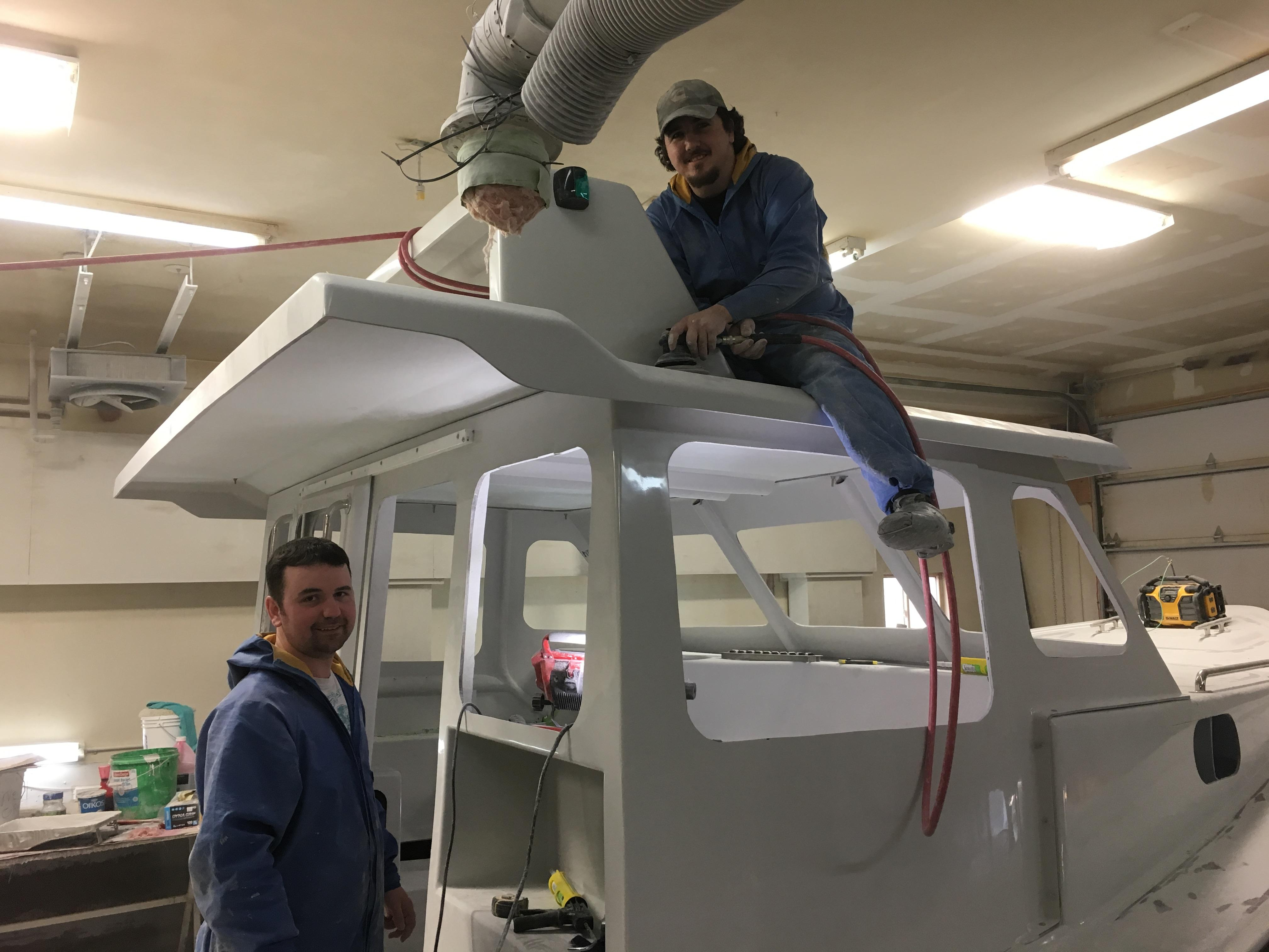 'The biggest challenge in the industry ... is attracting young people into the industry to pursue a career,' says Edwards. (Submitted by Hutt Brothers Boat Shop)