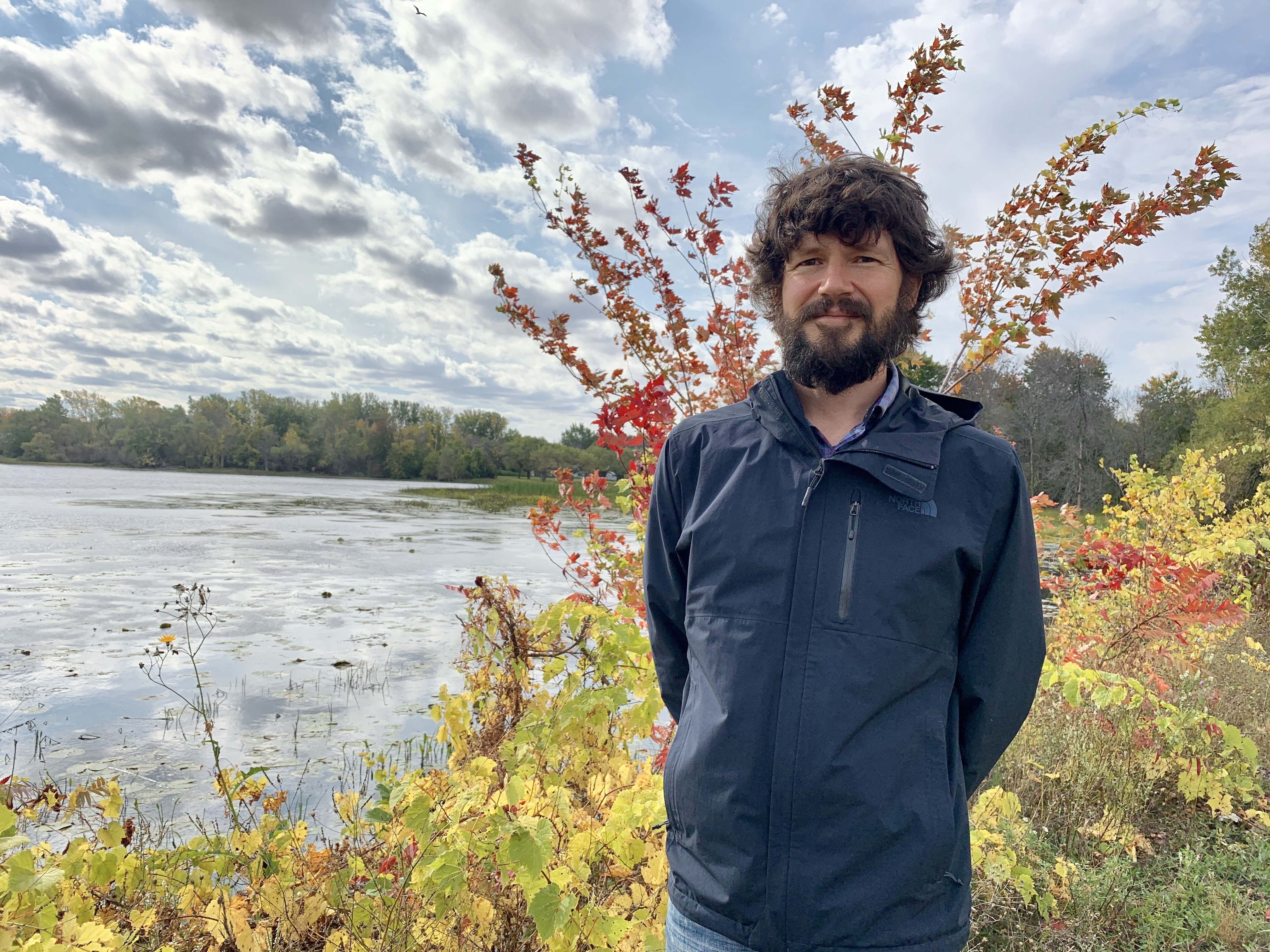 Patrick Ragaz, general manager of field science at the Mohawk Council of Kahnawake's Environment Protection Office. (Ka'nhehsí:io Deer/CBC)