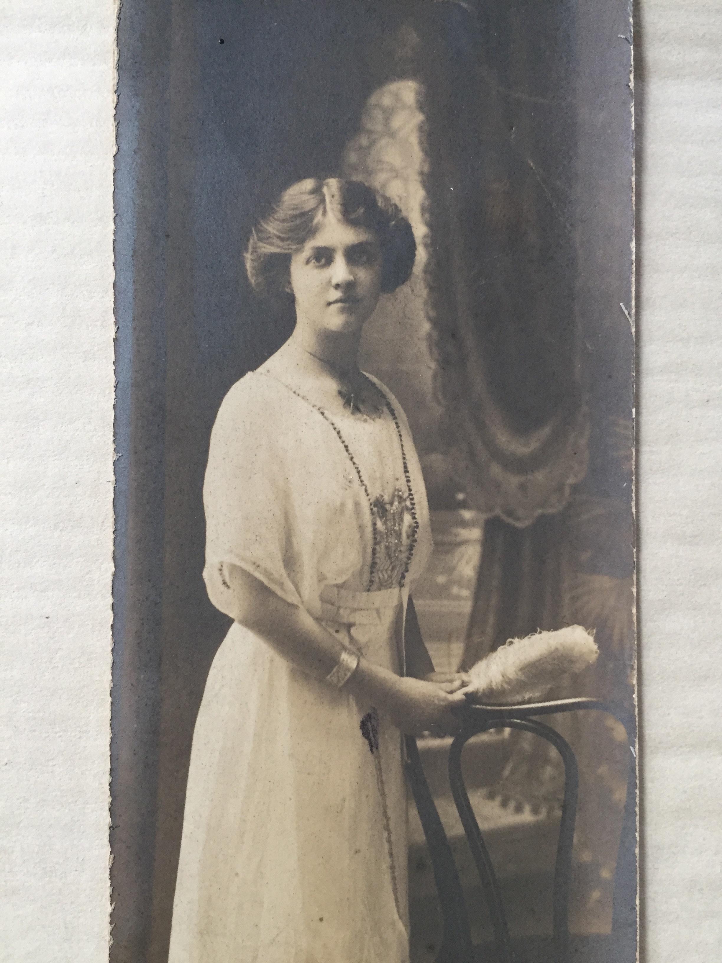 Helen Jones, seen here in 1917, worked as a music teacher before she became a war nurse. (Submitted: Howard van Allen)