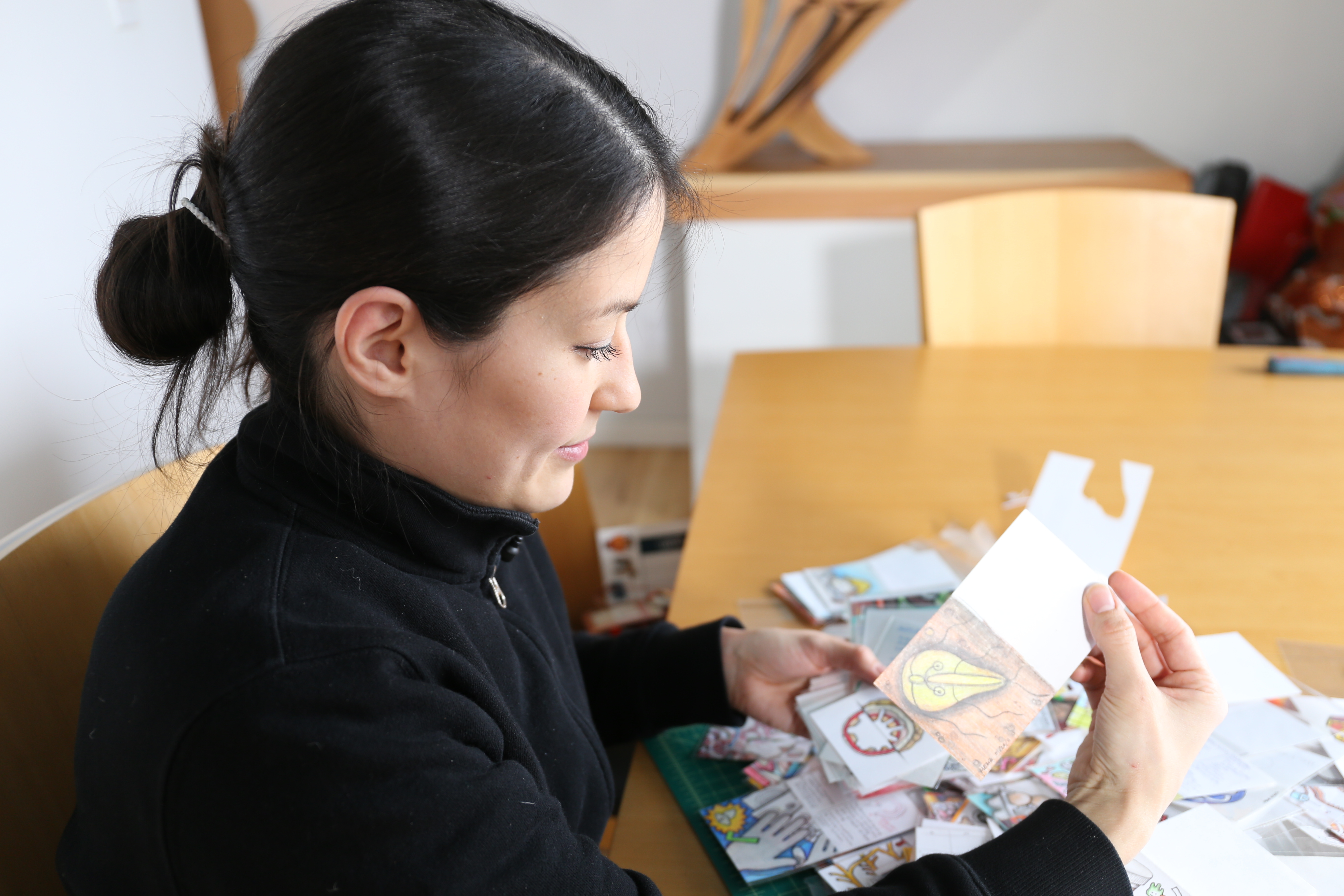 Doodles help Maruyama explain medical diagnoses to patients. (Emily Rendell-Watson/CBC)