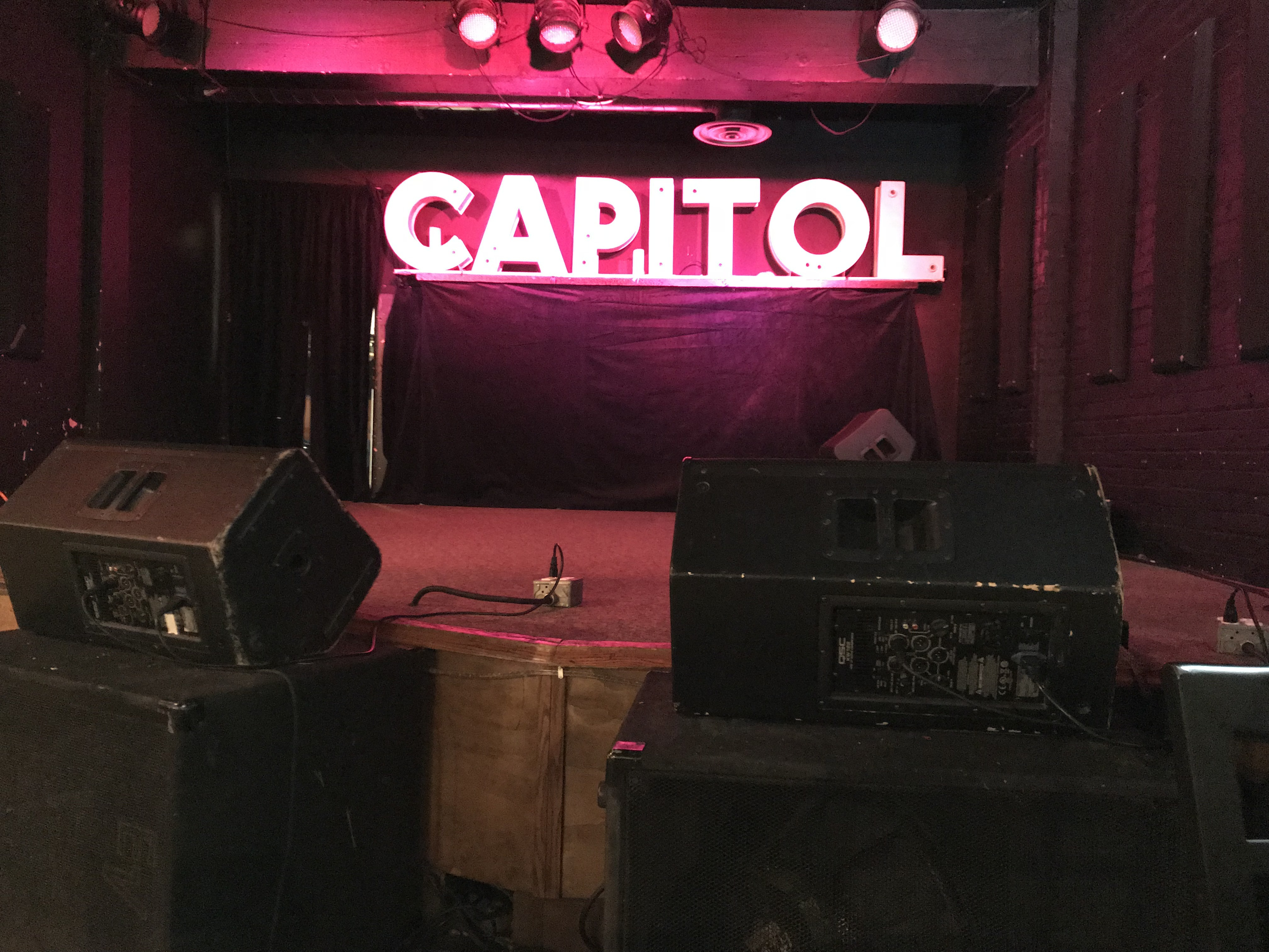 The stage at the Capitol Music Club in Saskatoon. (Guy Quenneville/CBC)
