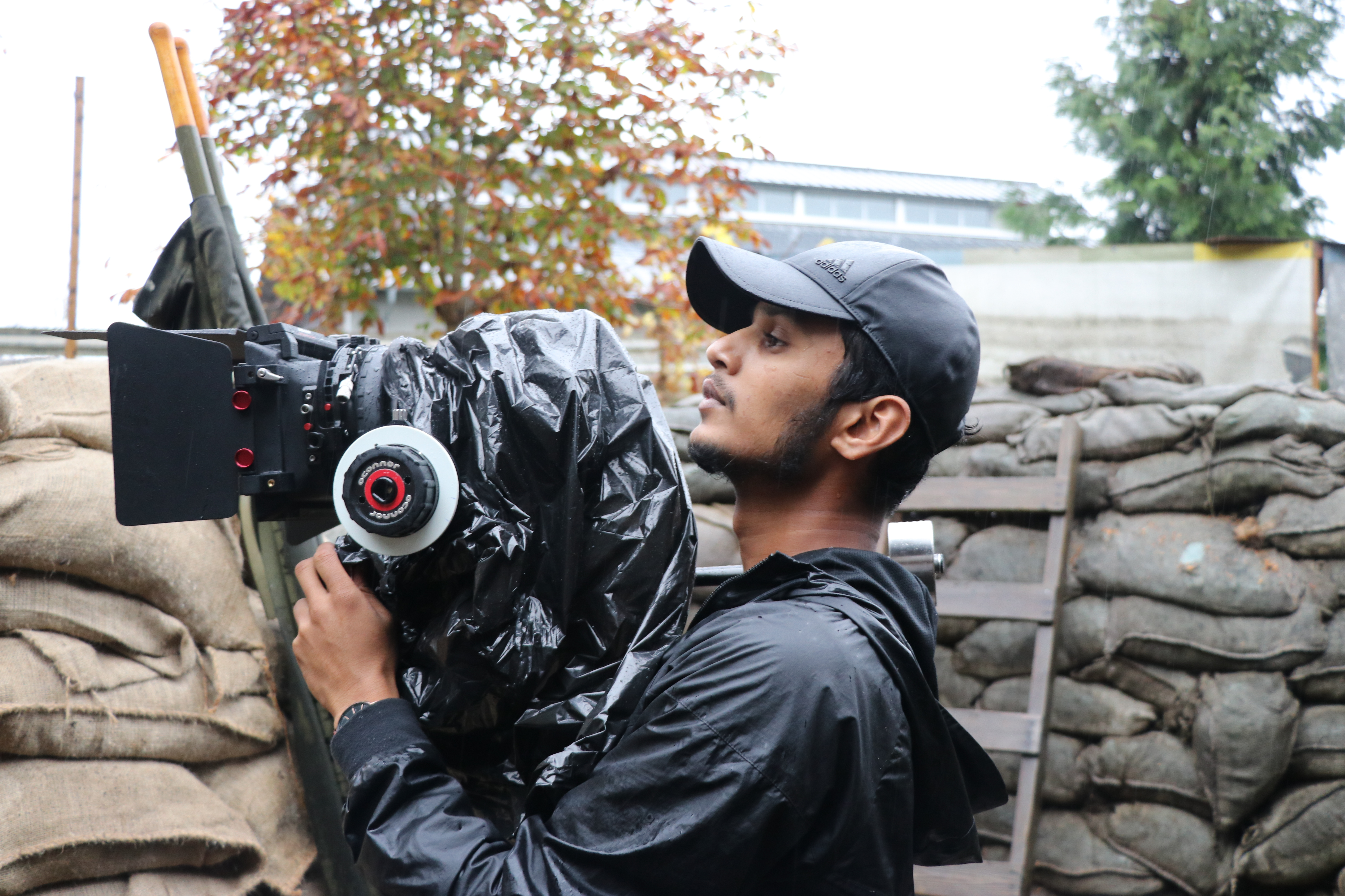 Shooting the film has brought back memories for Sopithan Rajeswaran of growing up in wartorn Sri Lanka. (Tamara Baluja/CBC)
