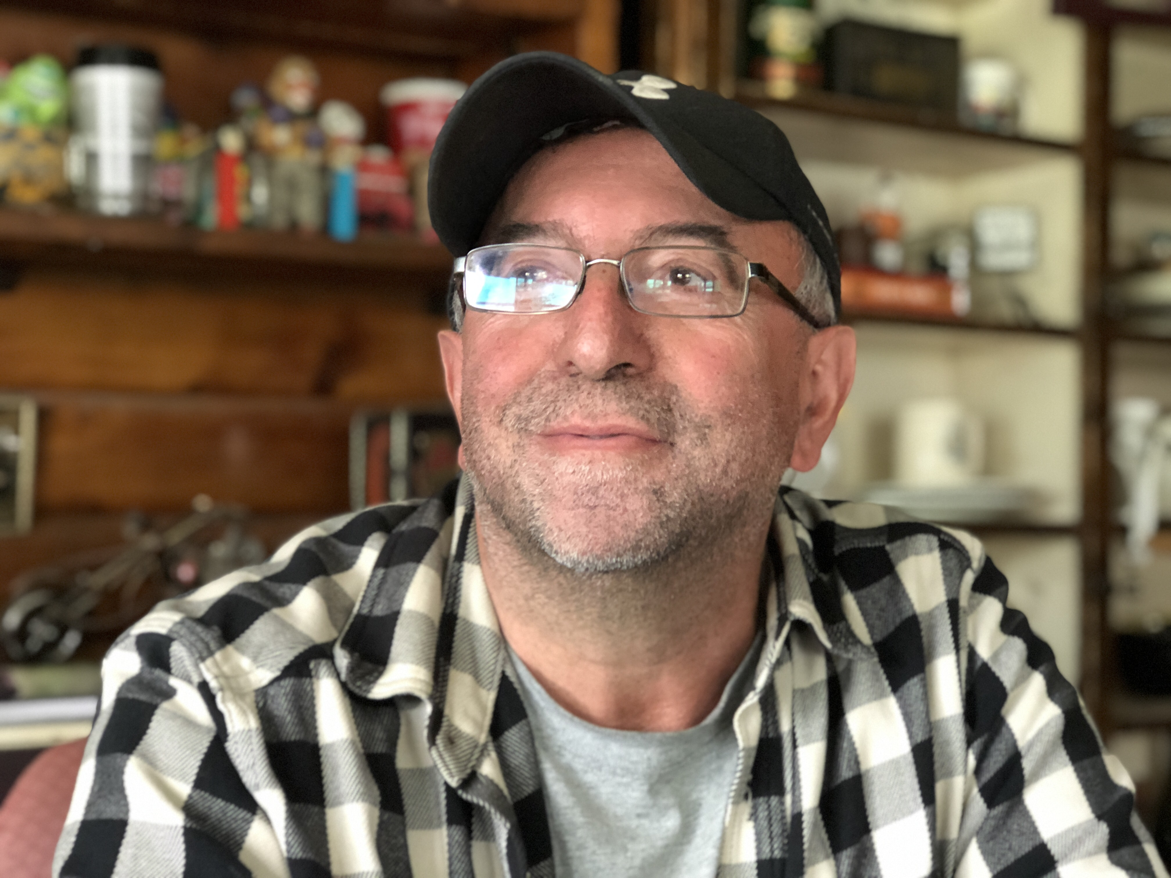 Mike Mancini remembers when television became available in Elsa in the 1970s. (Alexandra Byers/CBC)