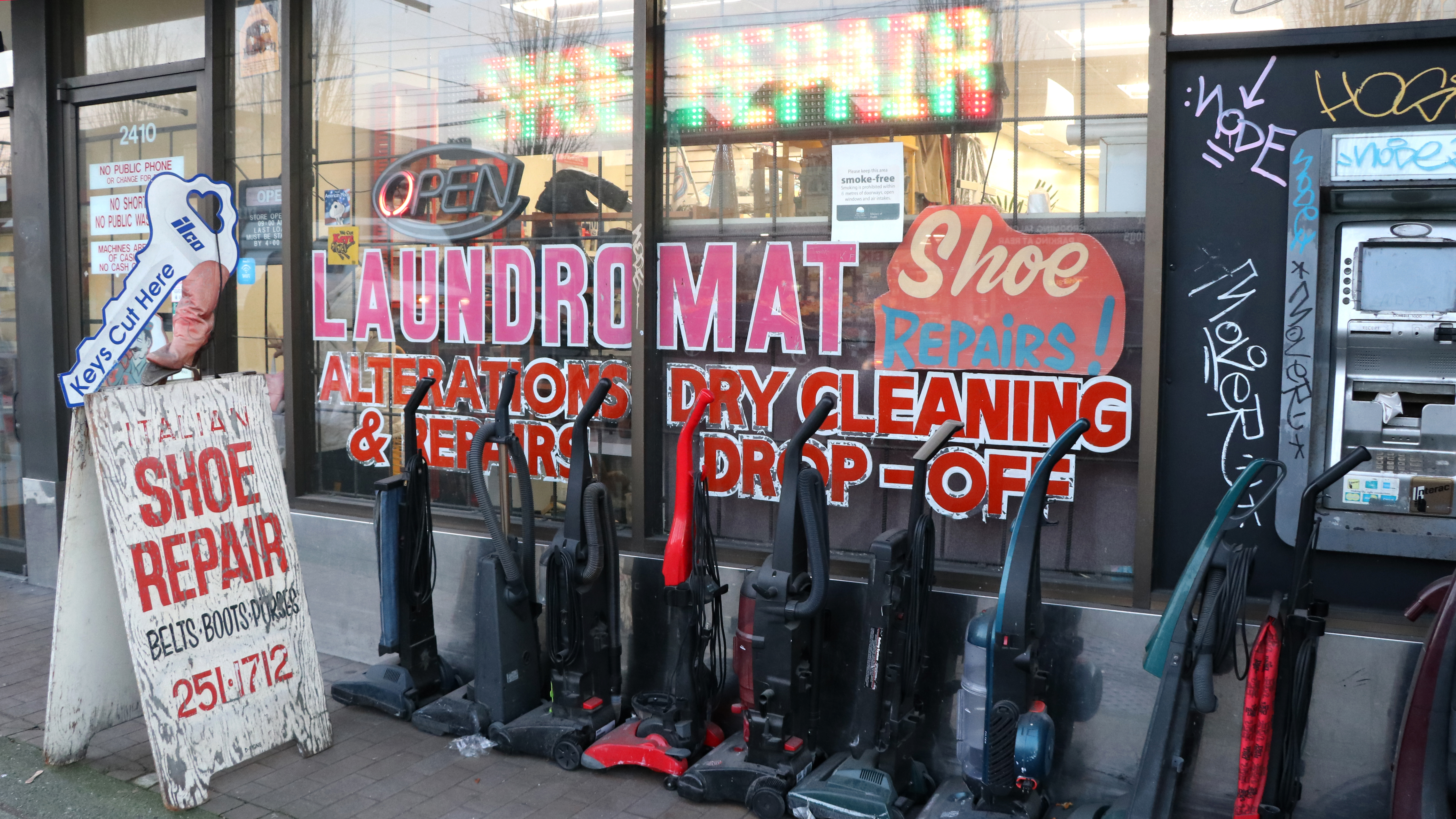 Laundromats have long offered additional services to help the business survive. (Maryse Zeidler/CBC)