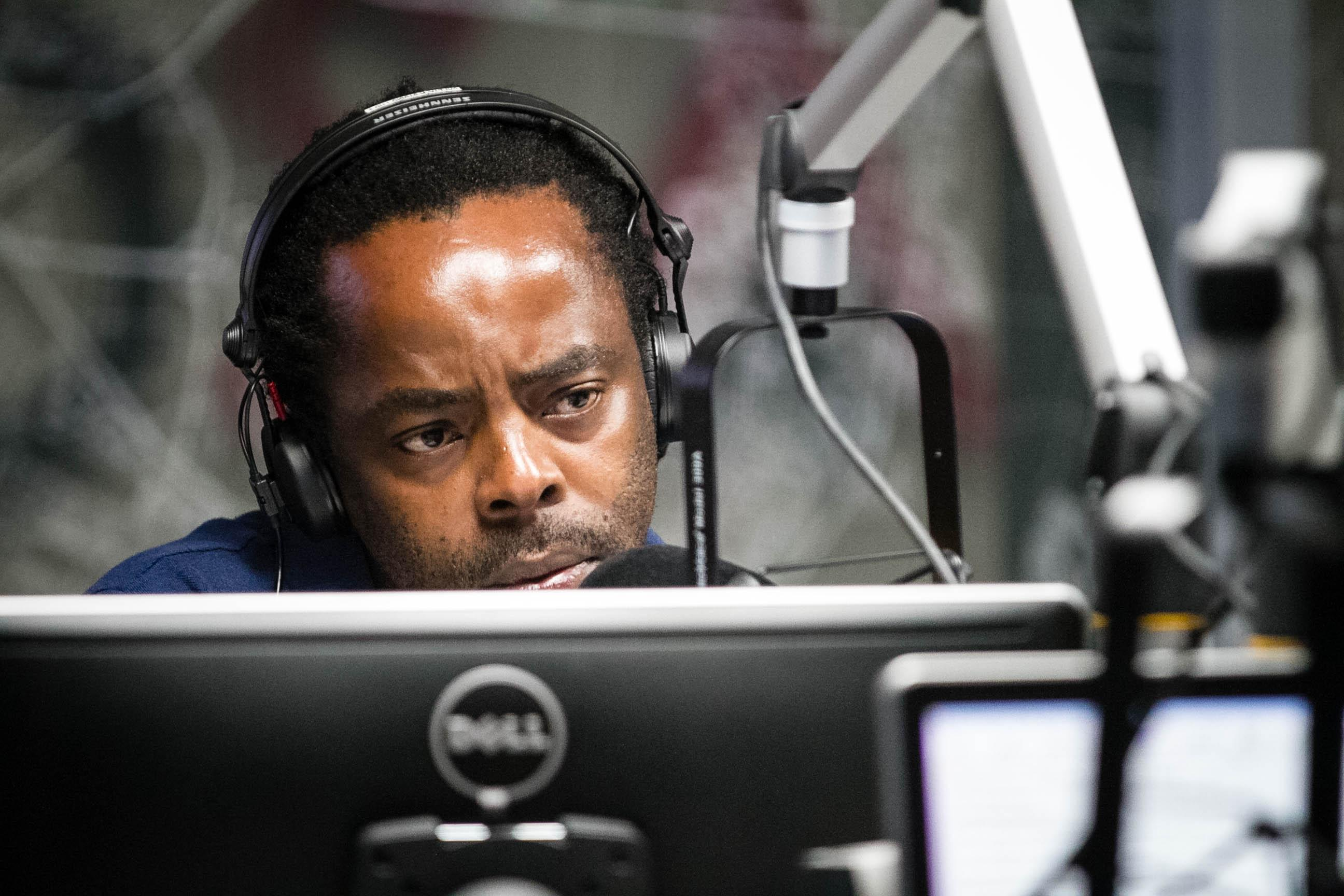 Koketso Sachane, host of a popular radio show on the Cape Talk station, says access to water is a problem beyond Cape Town's city limits. (Lily Martin/CBC)