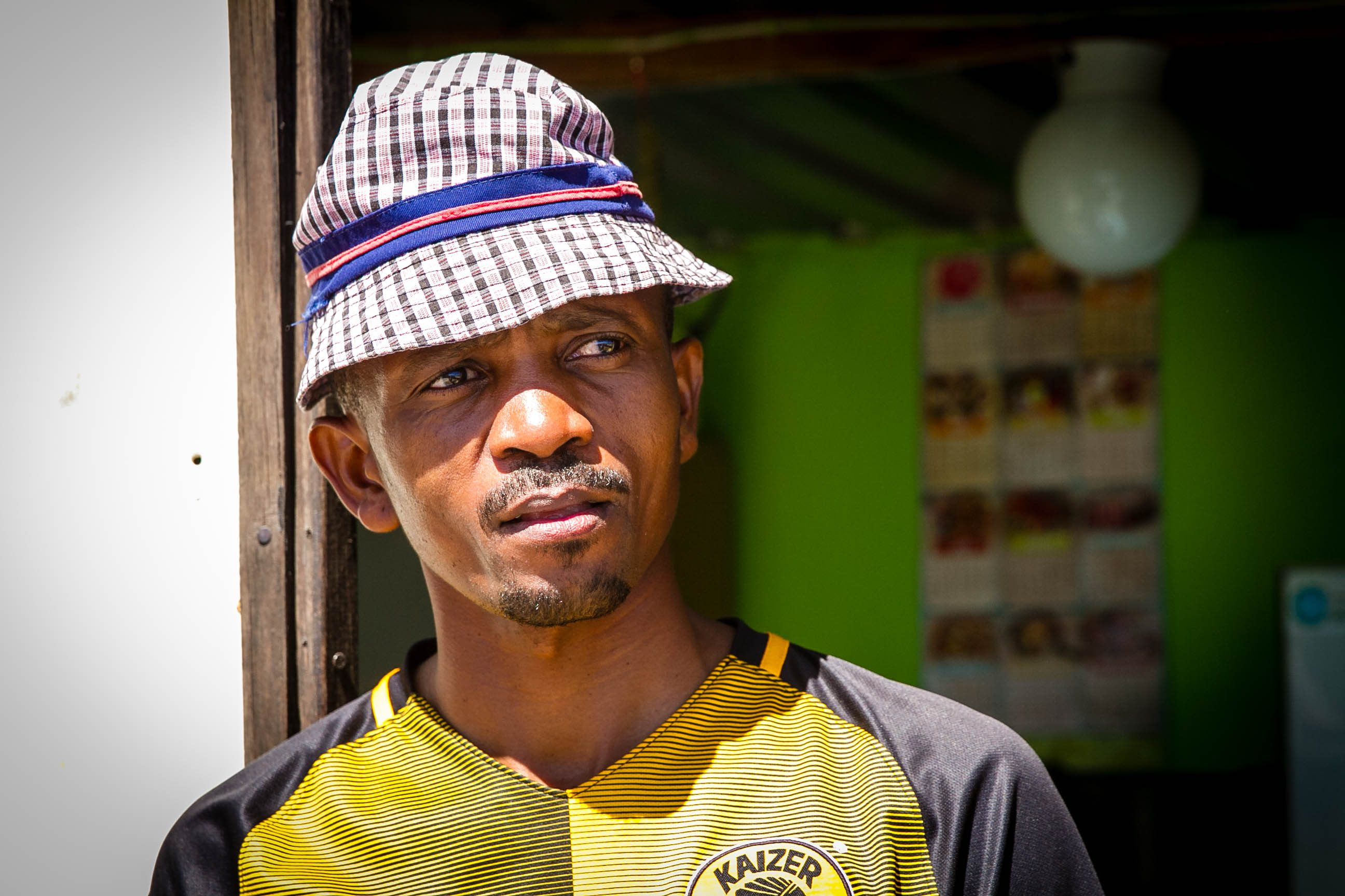 Sibusiso Nozigqwuebe, a security guard from Khayelitsha, is used to living with limited access to water. (Lily Martin/CBC)