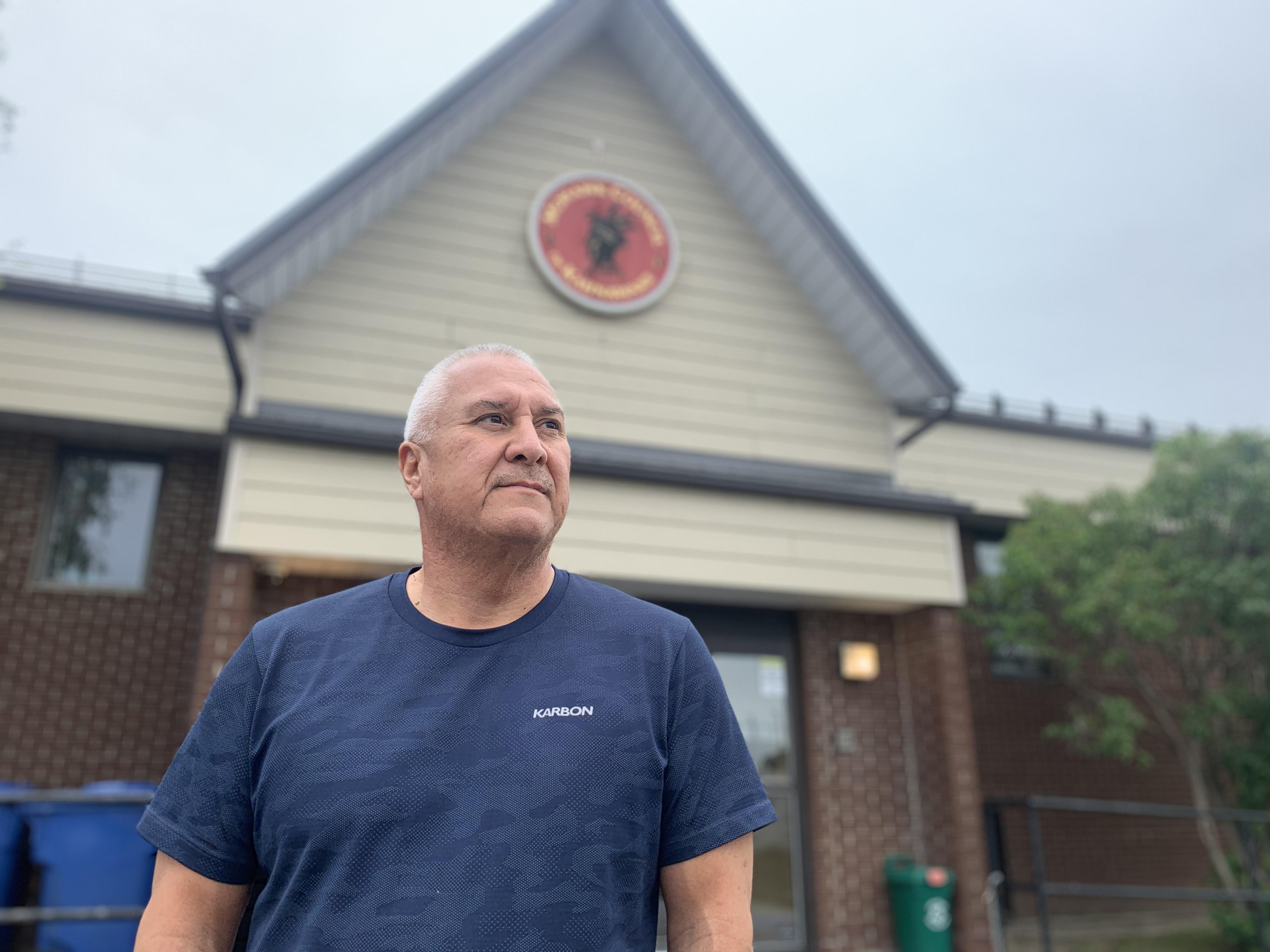 Mike Delisle Jr. is a chief at the Mohawk Council of Kahnawake. (Ka'nhehsí:io Deer/CBC)