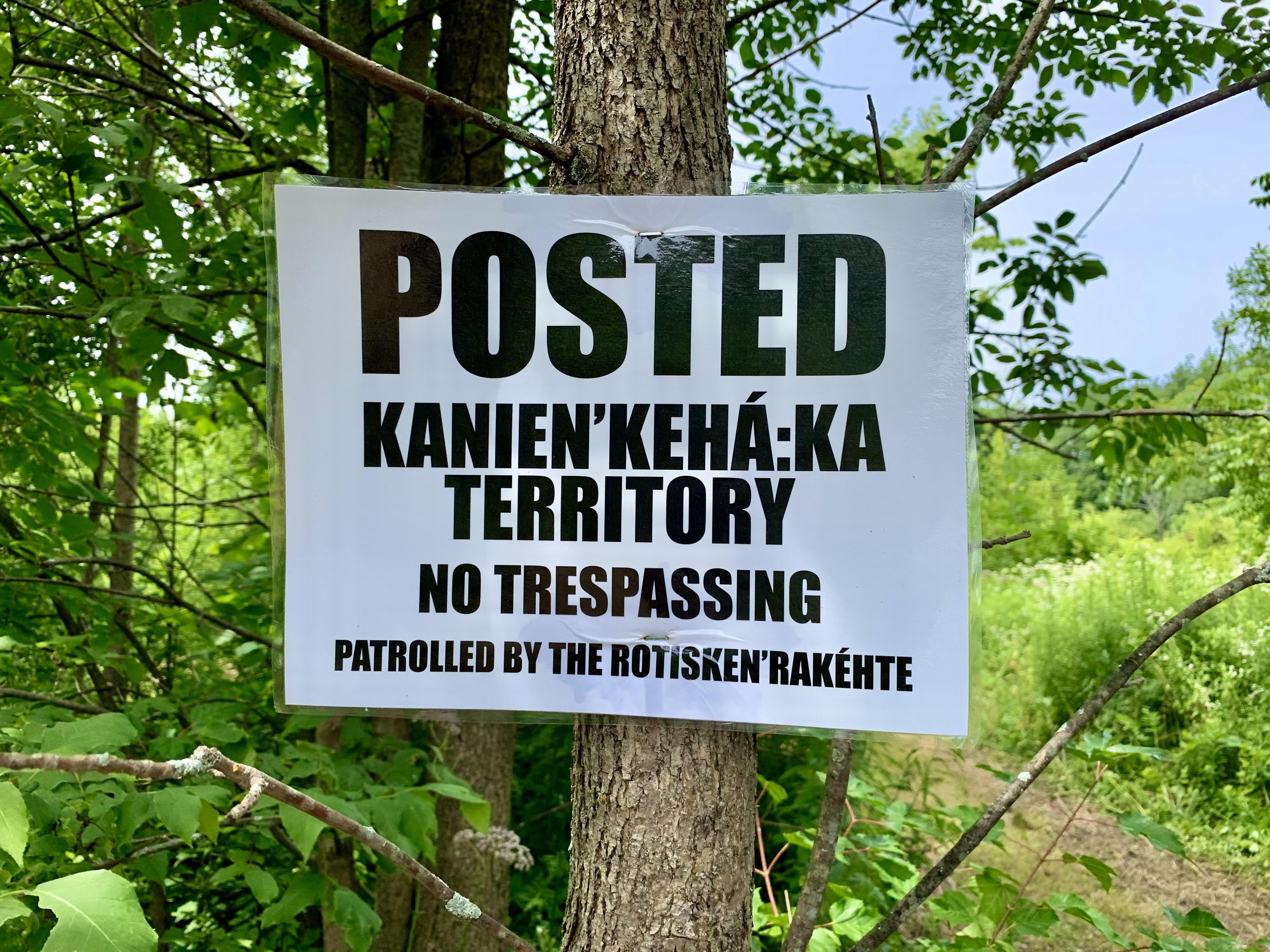The Rotisken'rakéhte are the traditional vanguard of the Kanien'kehá:ka Nation. (Ka'nhehsí:io Deer/CBC)