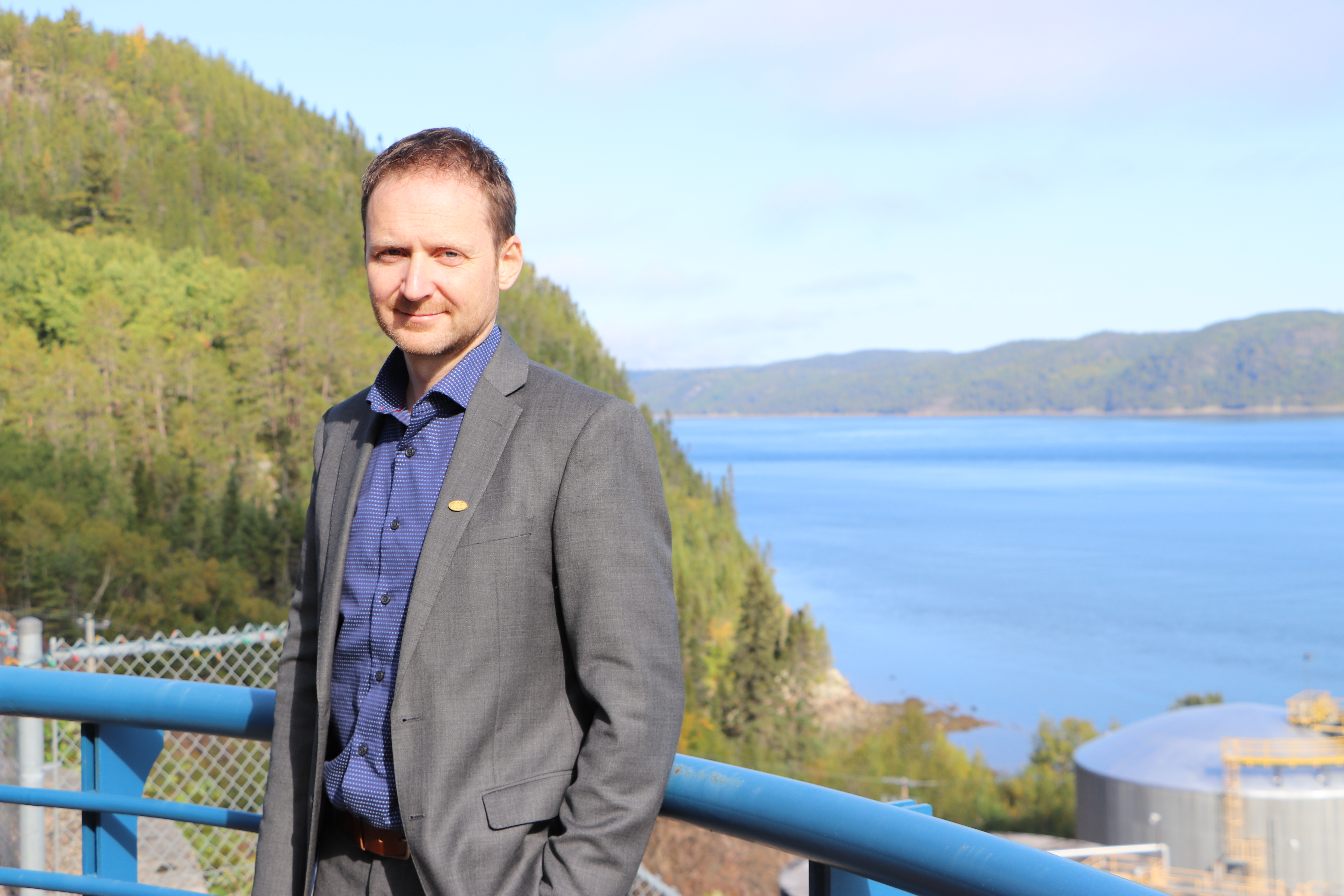 Carl Laberge, general manager of the Saguenay Port Authority, said the topography of the fjord makes it the ideal location from which to export LNG.