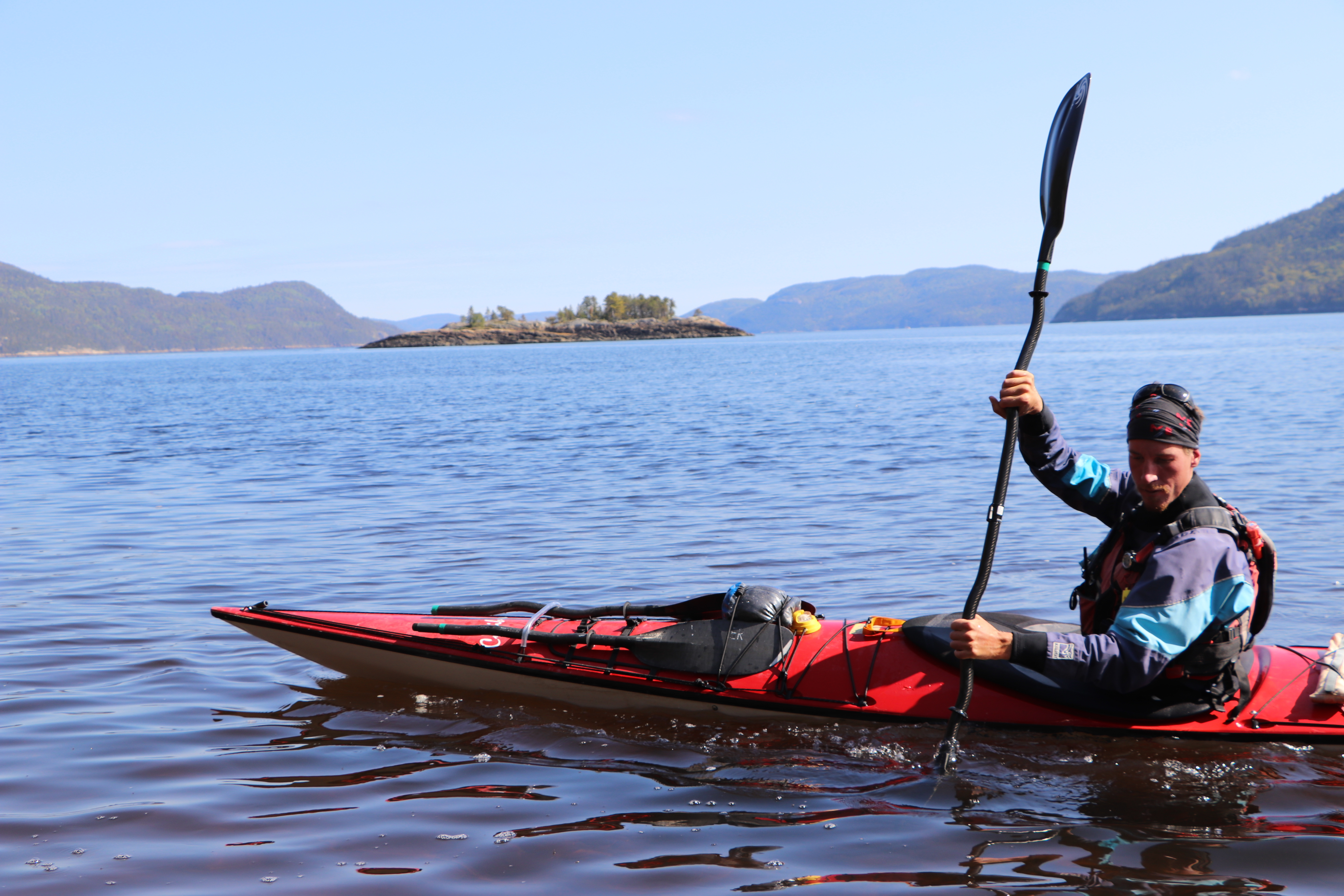 Mathieu Boulanger-Tessier, a kayak guide on the Saguenay Fjord for seven years, is concerned an increase in heavy marine traffic will drive tourists away.