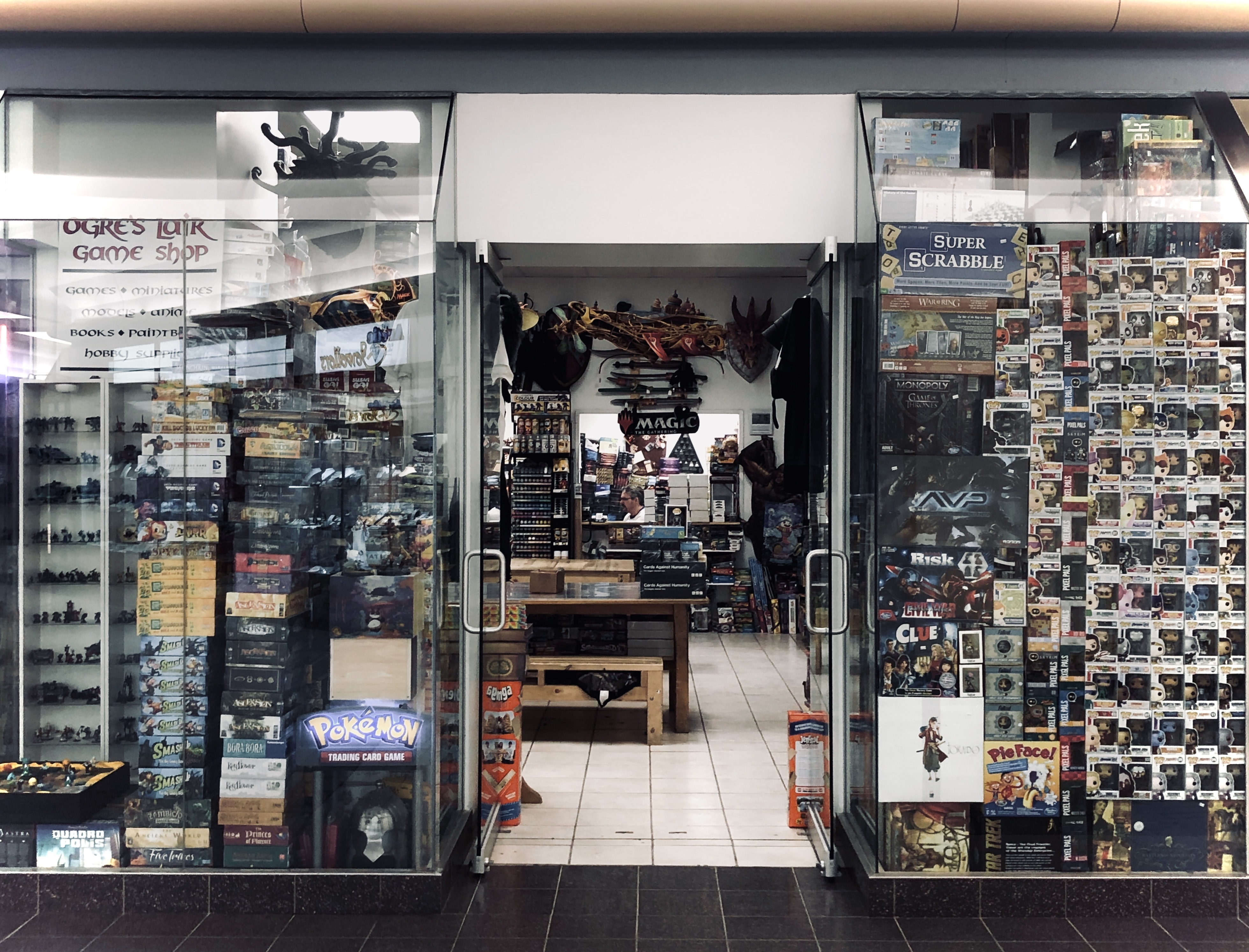 Ogre's Lair, a games shop, is one of the mall's few remaining tenants. (John Last/CBC)