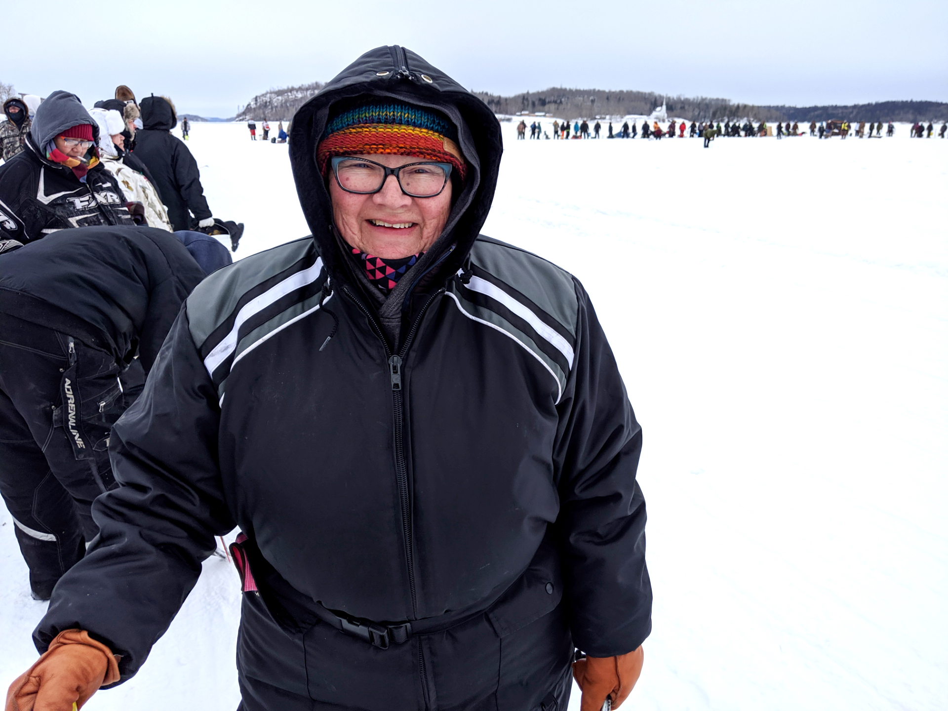 Sallie McLeod is the director of education for the Amachewespimawin First Nation. In March, she was one of hundreds who took part in an annual fish derby in Stanley Mission. (Heidi Atter/CBC)