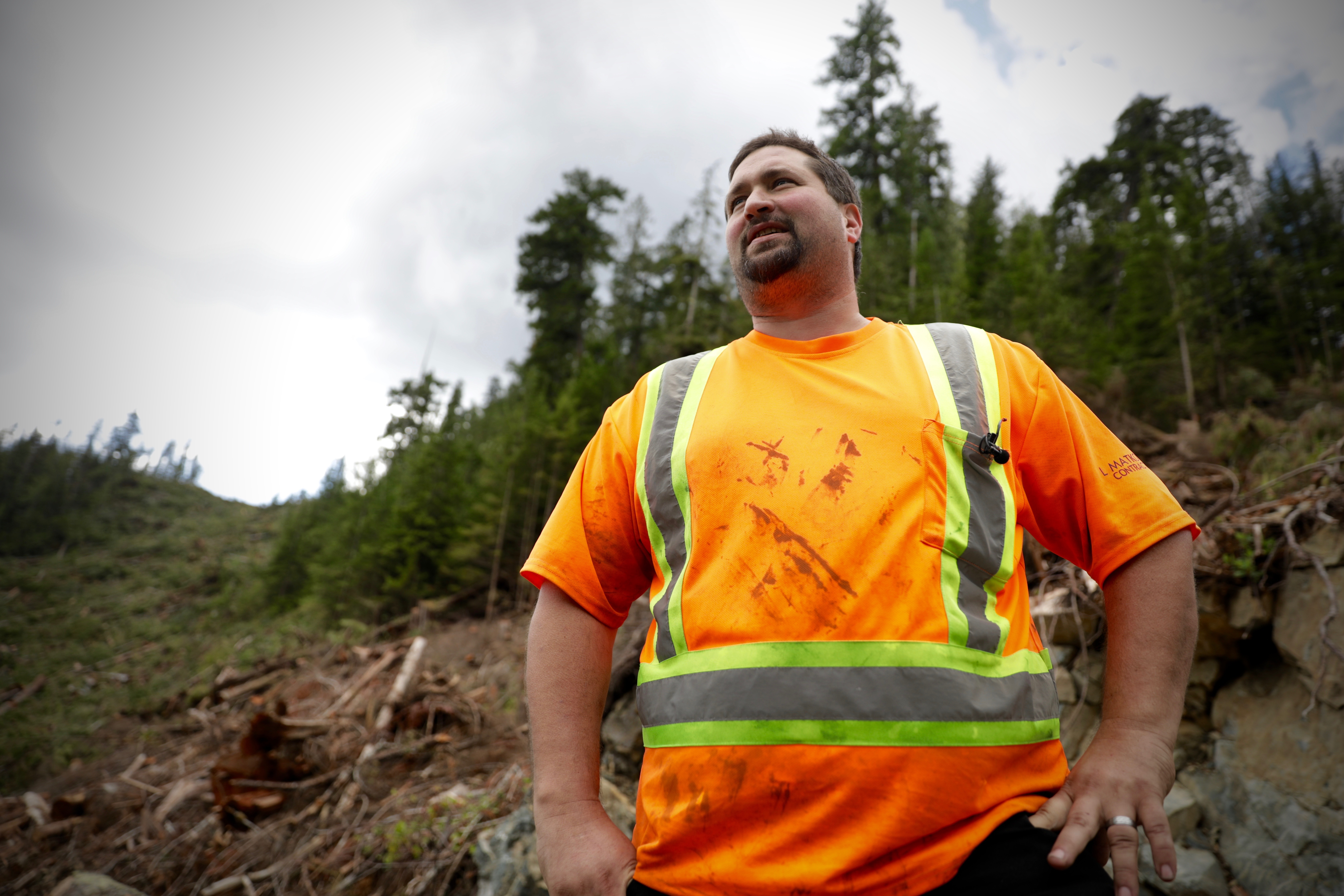Jeremy Matkovich is a fourth-generation logger from Campbell River. (Chris Corday/CBC)