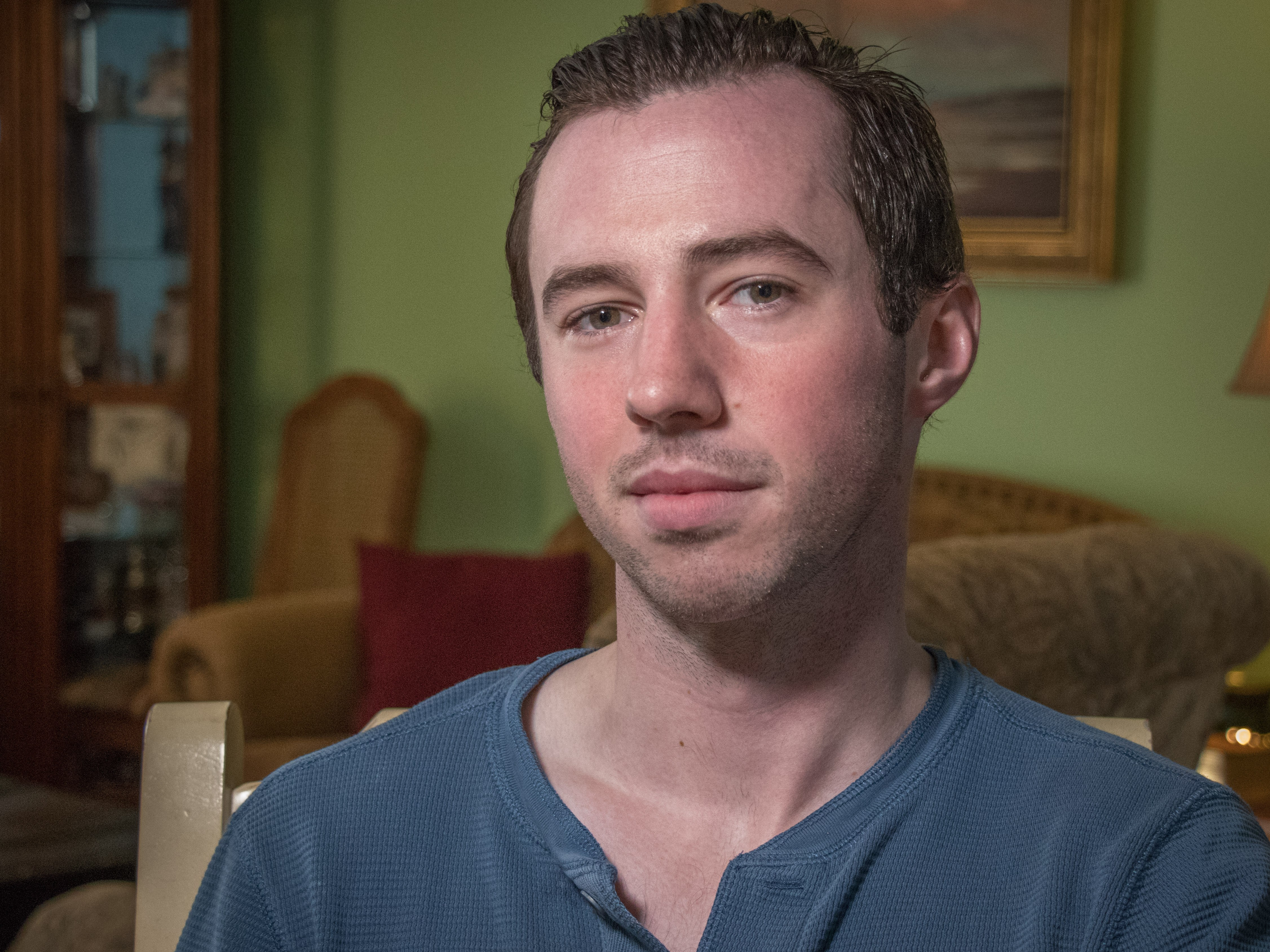 Jacob Wells at the home of his parents in Cole Harbour, N.S. (Steve Berry/CBC)