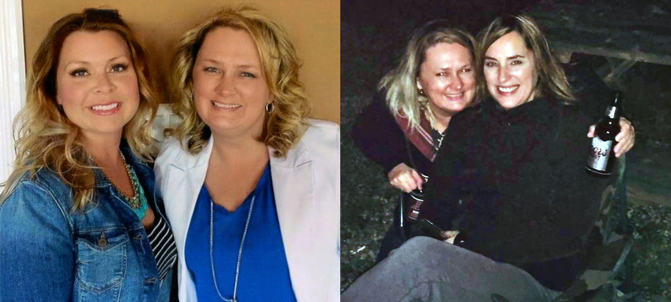 Vicki Burden, left, and Gina Elliott, far right, both pictured with Hillier-Penney, feel the police didn't take her disappearance seriously enough in the beginning. (Submitted by Vicki Burden and Gina Elliott)
