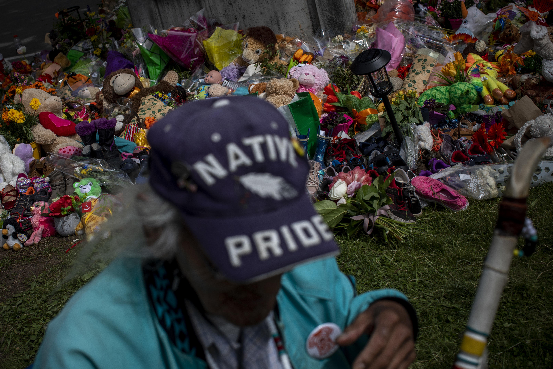 Flowers, teddy bears and handwritten letters were placed by people across Western Canada.
