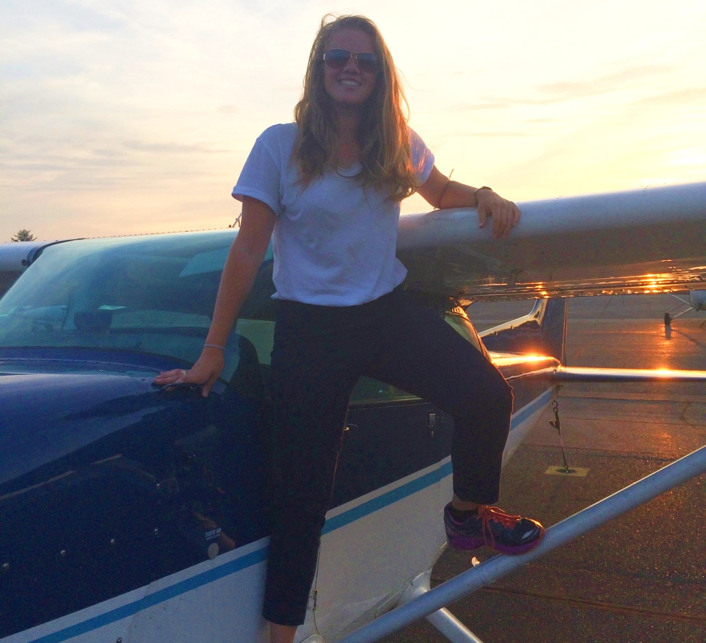 Katie Harris has been ticking boxes on her personal goals. In 2015, she obtained her private pilot's licence. (Submitted)