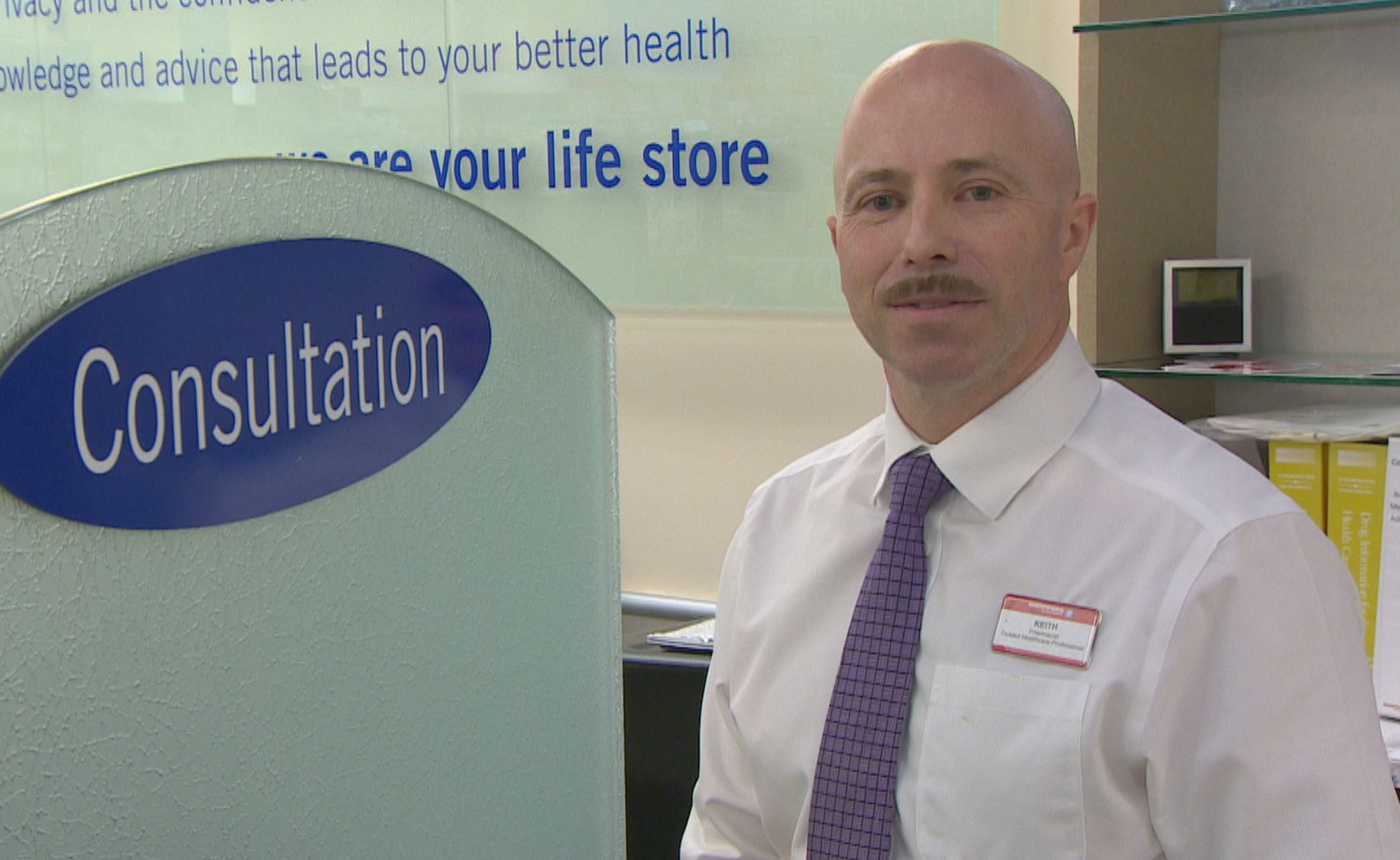 Keith Bailey is a pharmacist at Shoppers Drug Mart in Conception Bay South. (Bruce Tilley/CBC)
