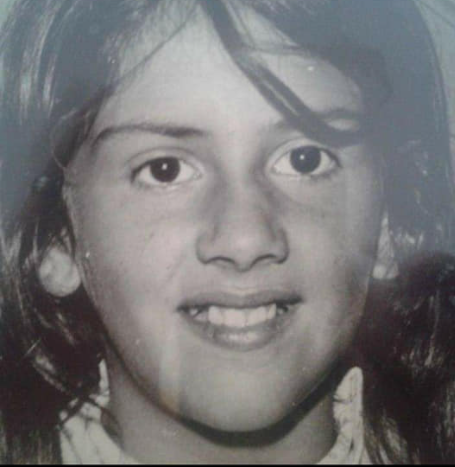Kelley Peters when she was in Grade 3 for the second time at Big Cove Federal Indian Day School in Elsipogtog. (Submitted by Kelley Peters)