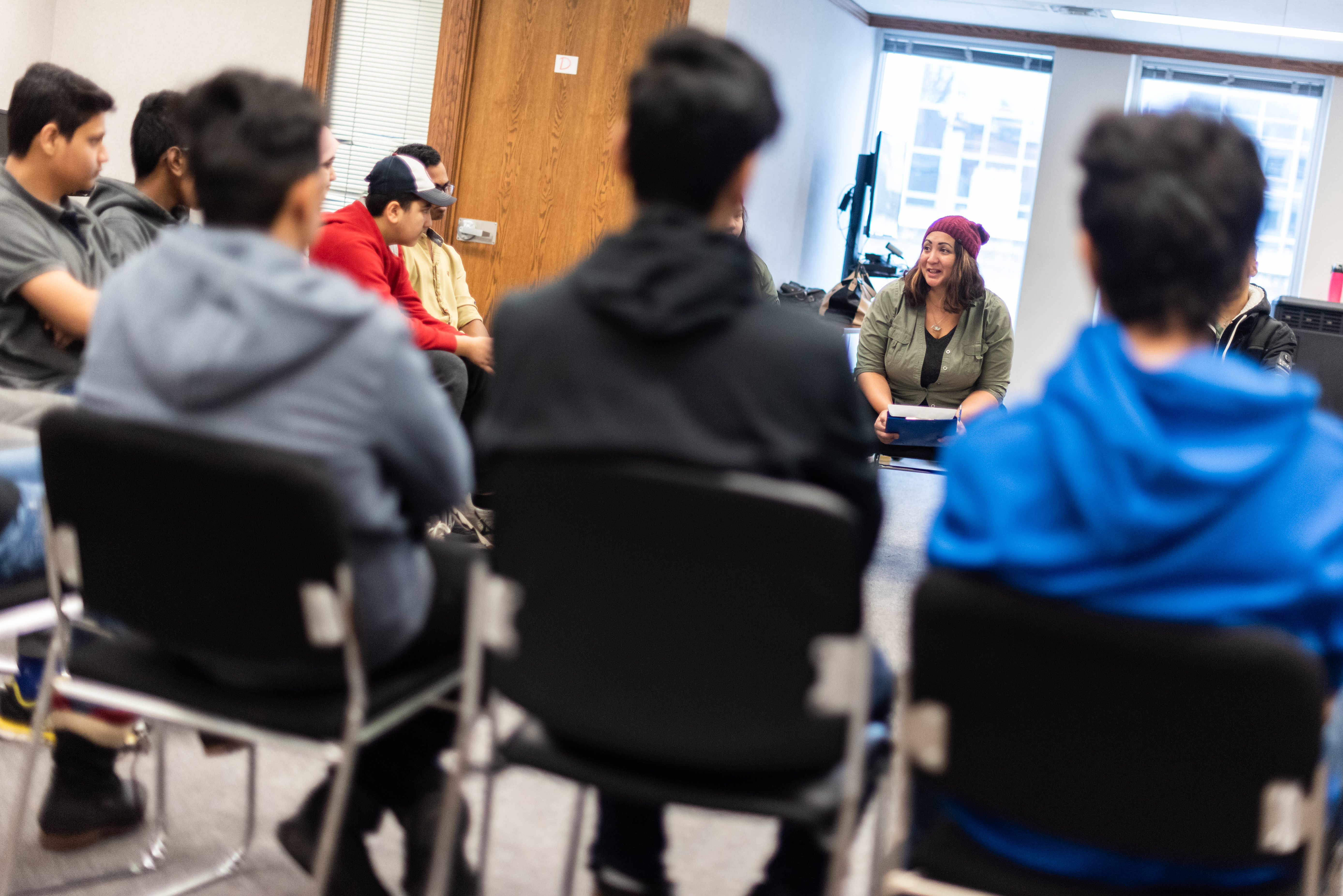 Alvarez's theatre workshop at Regina Open Door Society was aimed at building relationships between Indigenous and immigrant youth (Michael Bell).
