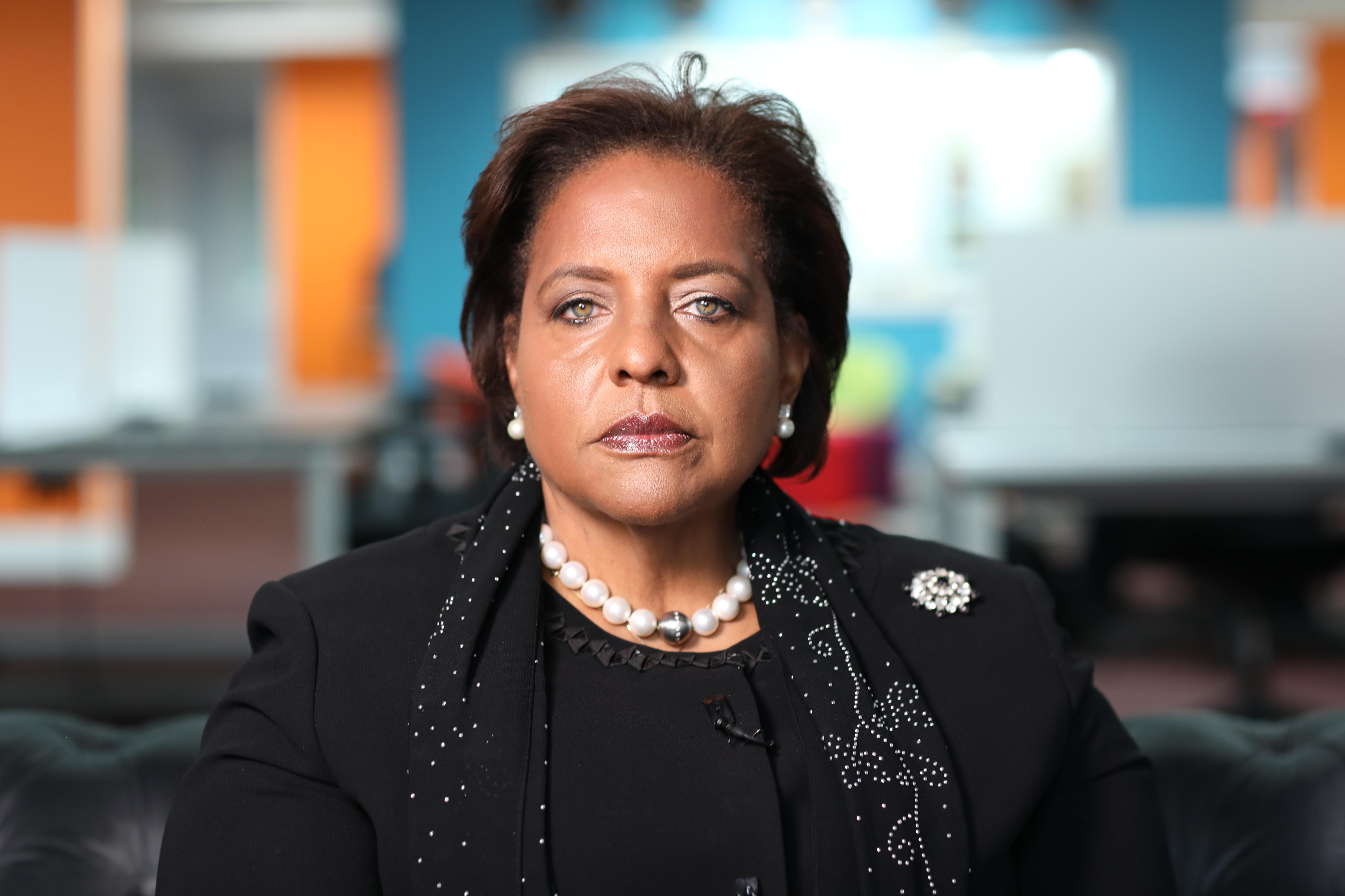 Former Bahamian opposition leader Loretta Butler-Turner says Nygard was 'a corrupter of men.'  (John Badcock/CBC)
