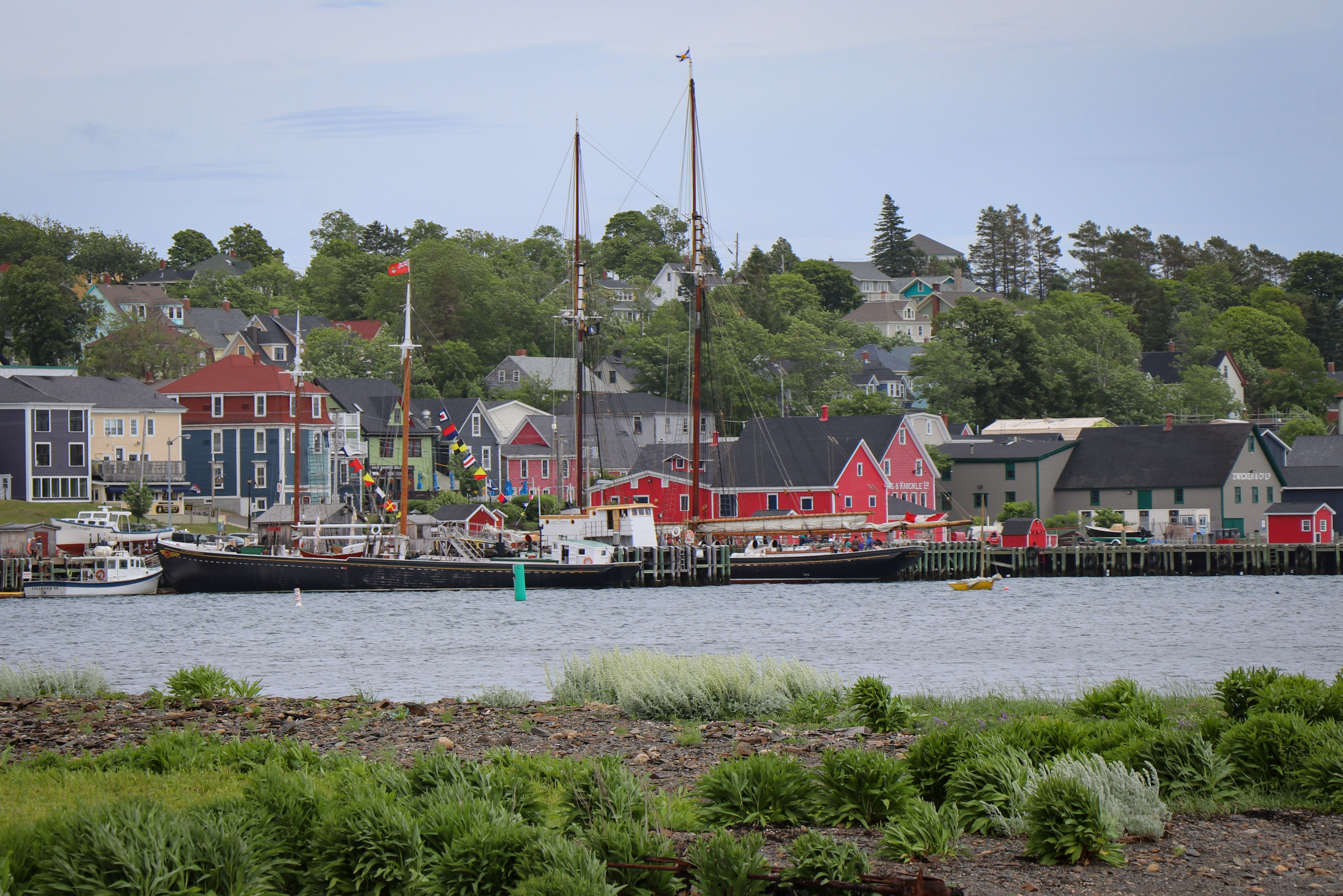 Lunenburg is both a tourism hub and an industrial town with a strong boat-building history. (Emma Davie/CBC)