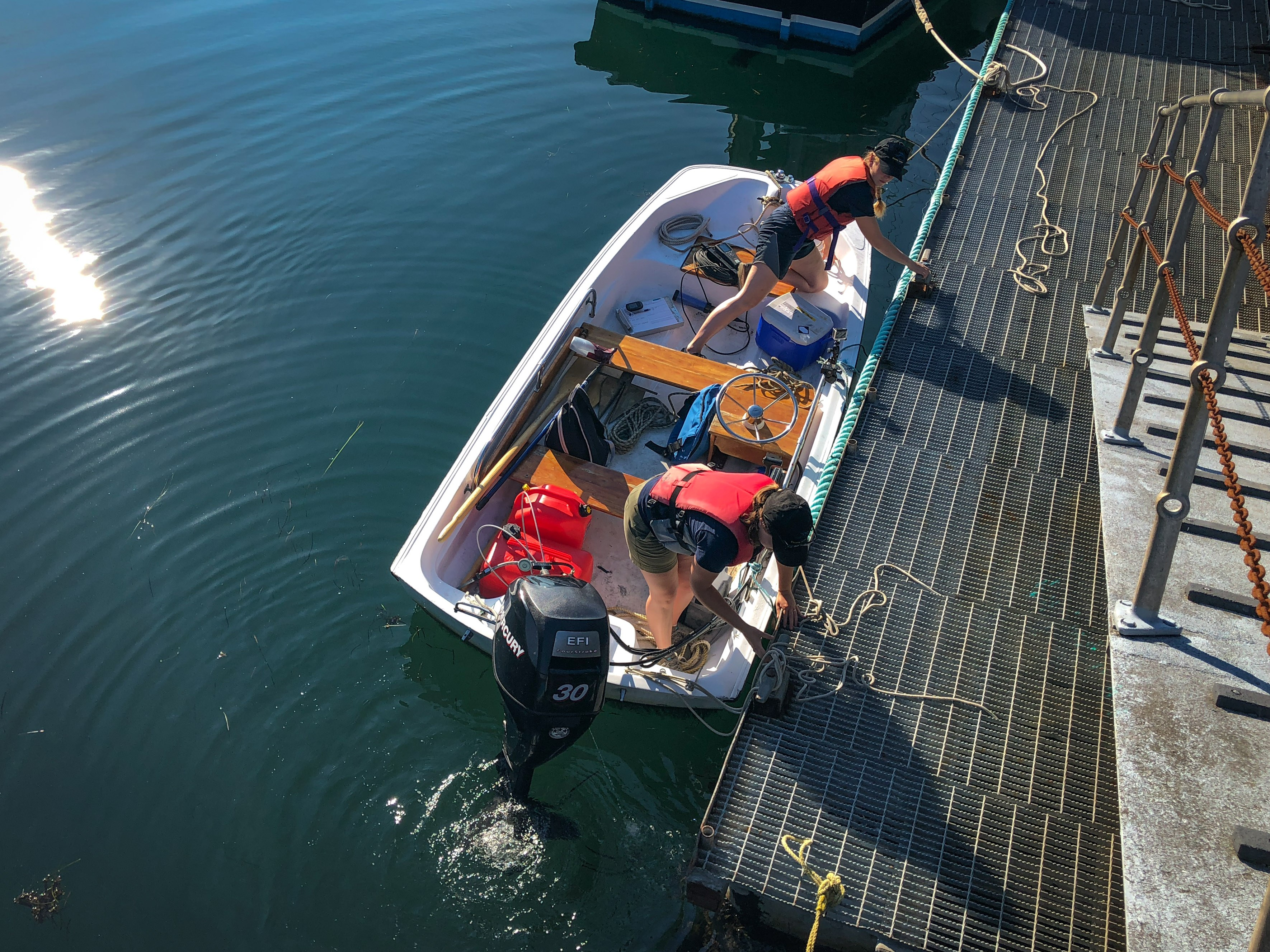 The Bluenose Coastal Action Foundation has been taking water samples this summer. (Emma Davie/CBC)