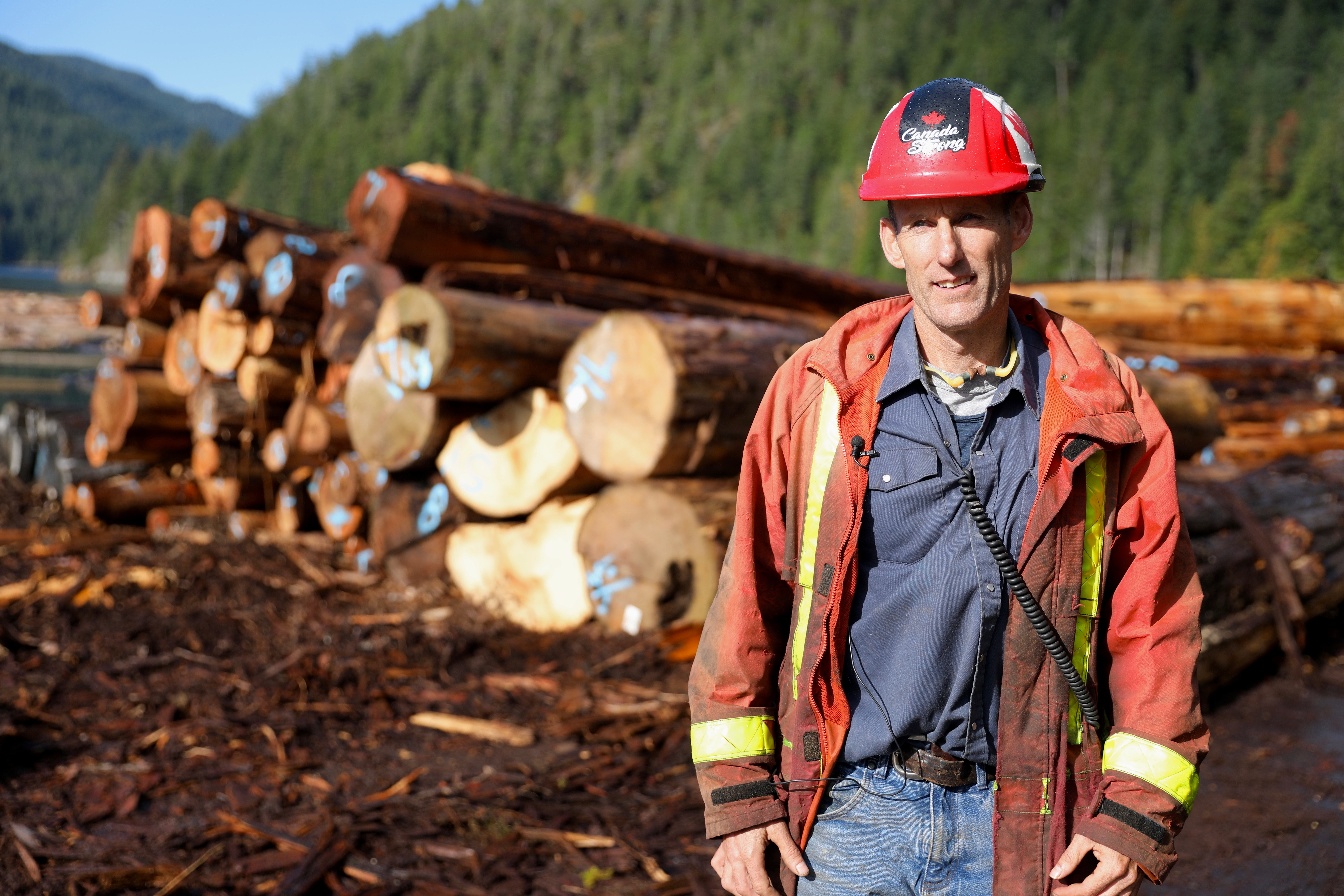 Mike McKay is retooling his mill to process more second growth logs so its future is not as dependent on old-growth wood. (Chris Corday/CBC)