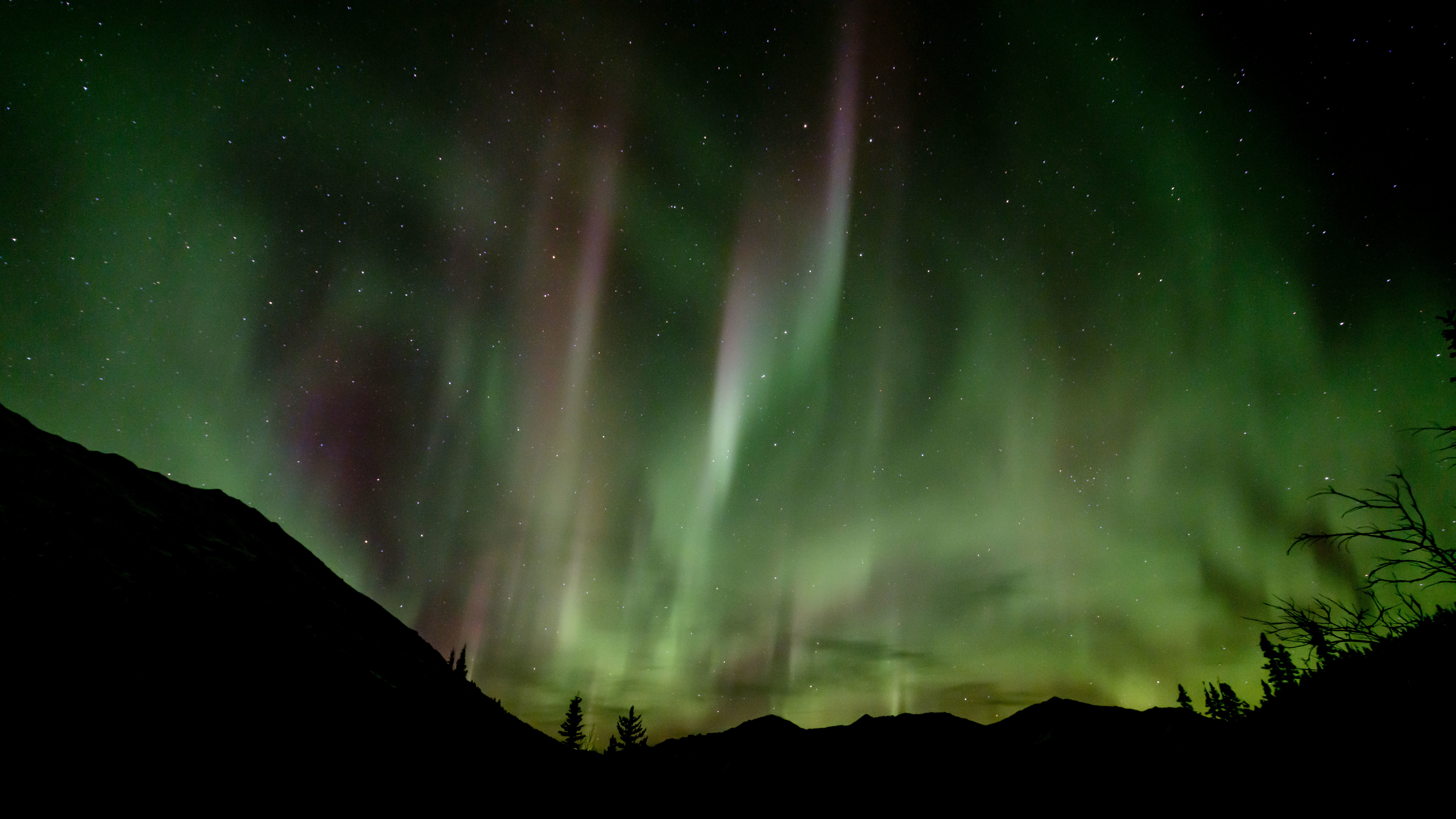The aurora over a valley in Yukon. Legends of the aurora borealis go back generations. (Mark Kelly)