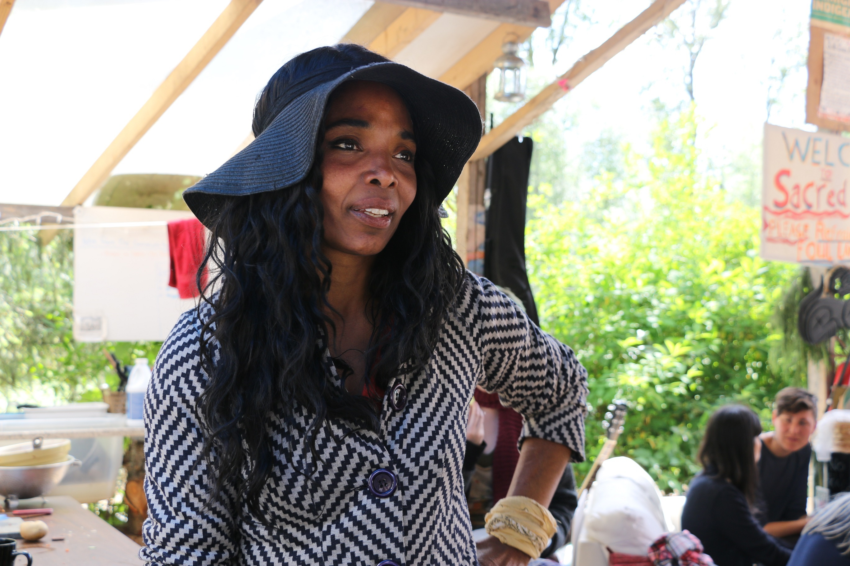 Makeda Martin says most of the Forest Grove residents support Camp Cloud. (Maryse Zeidler/CBC)