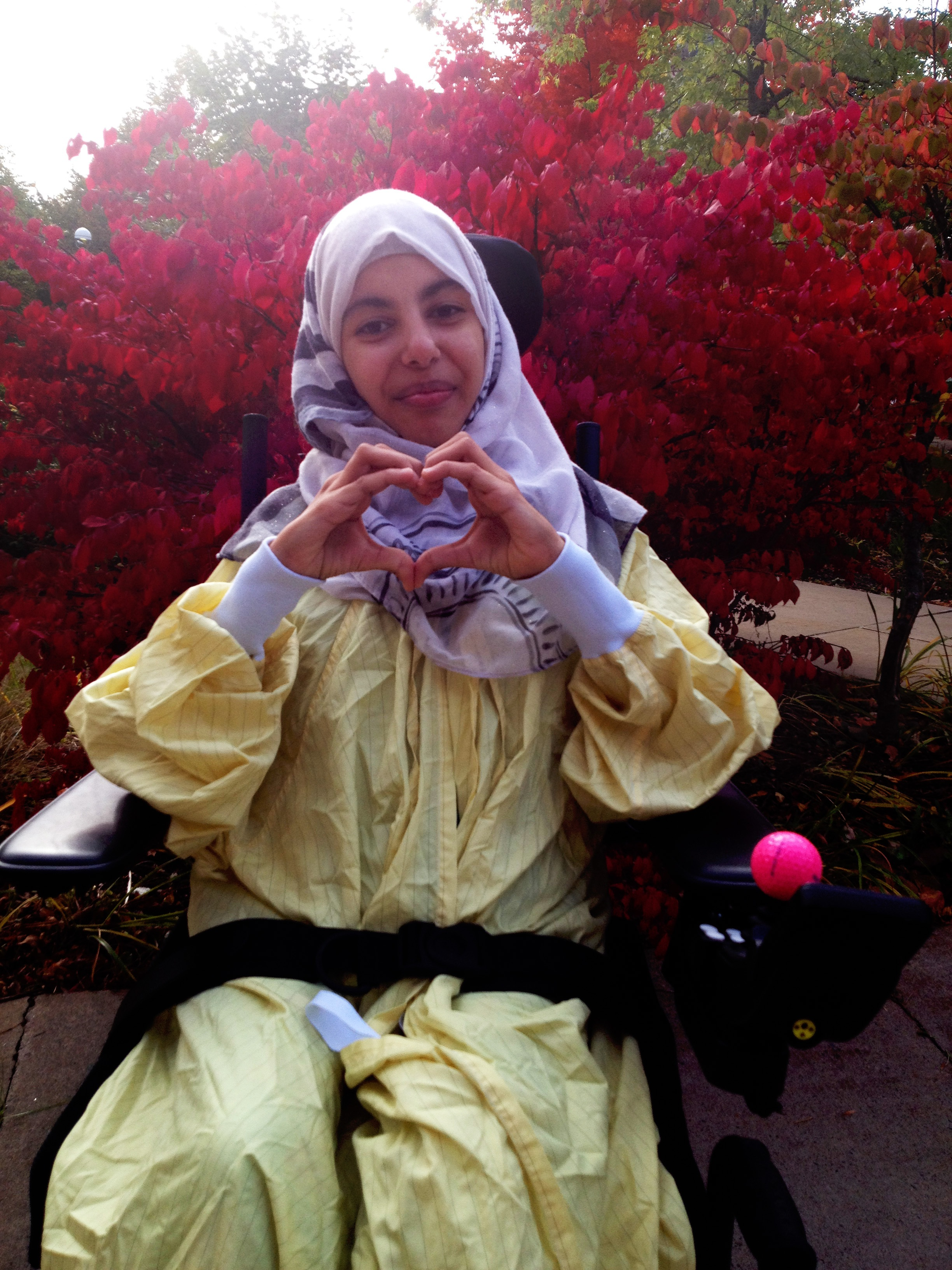 Marwa is shown outside the IWK Health Centre in Halifax following her surgery. (Submitted by Mohammad Harb)