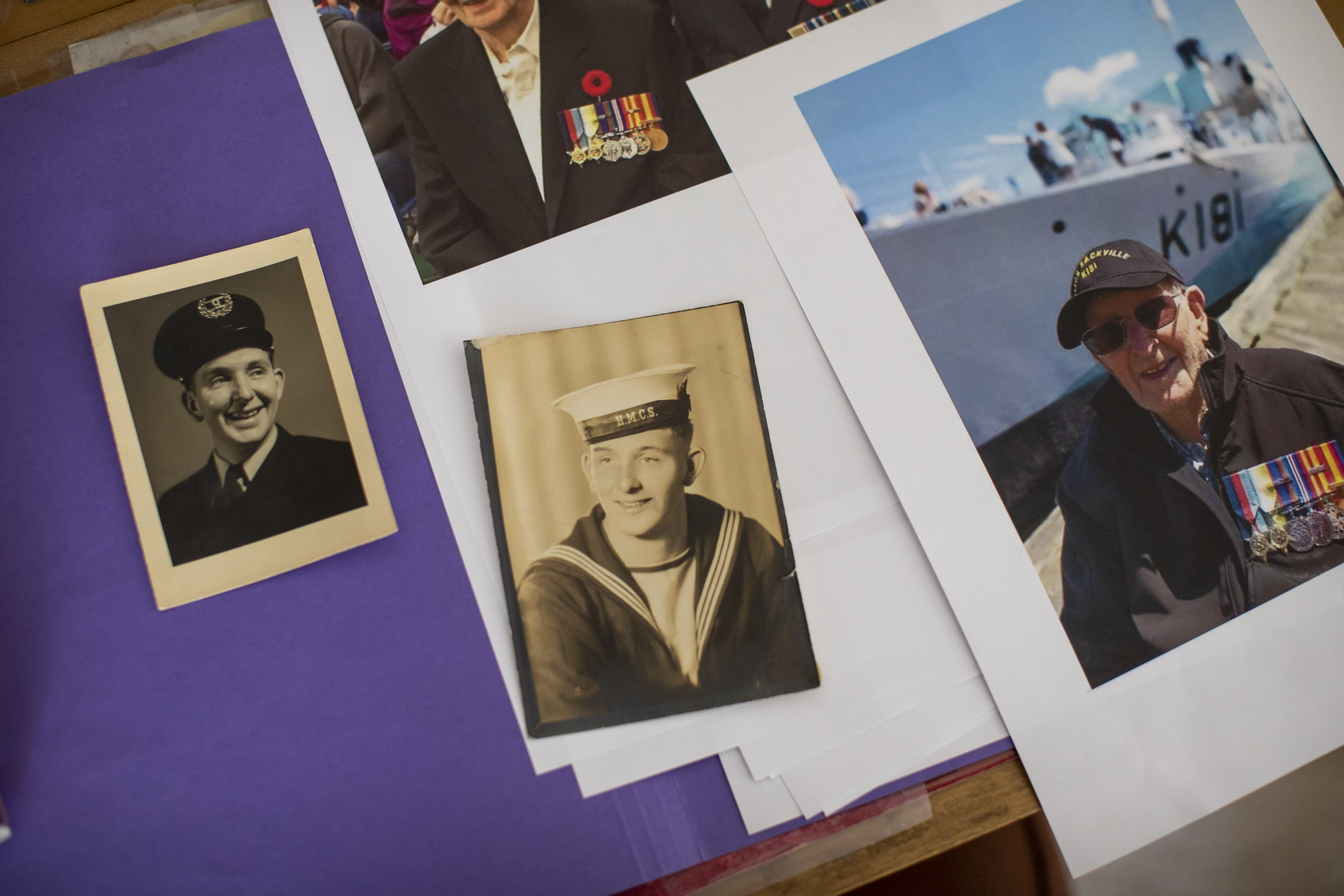 Pictures and memorabilia at Leonard Newton's house after he died of COVID-19 in Maple Ridge in April 2020.  (Ben Nelms/CBC)