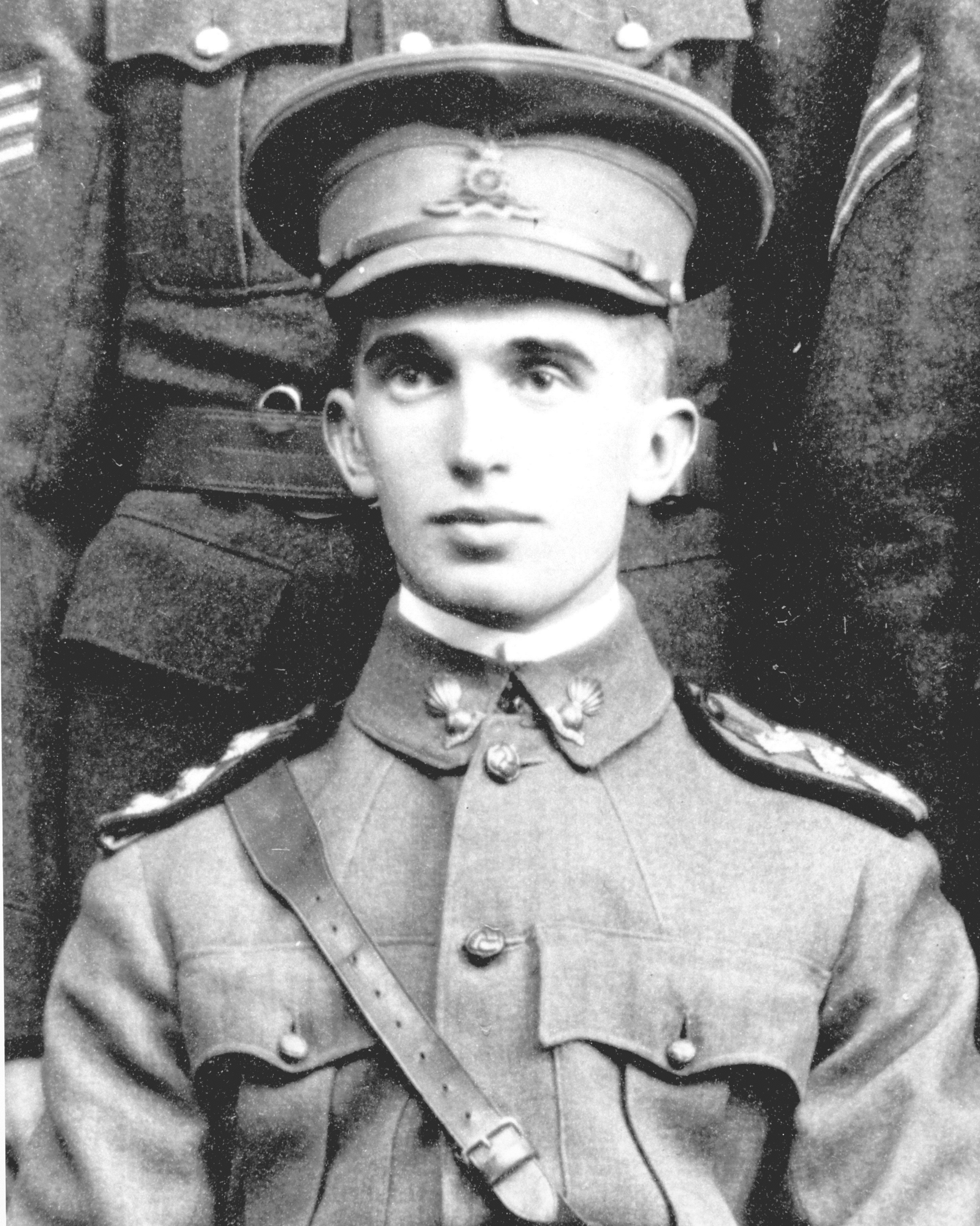 Lt. Alexis Helmer was a close friend of McCrae's whose death inspired In Flanders Fields. (McGill University Archives PL 006 409)