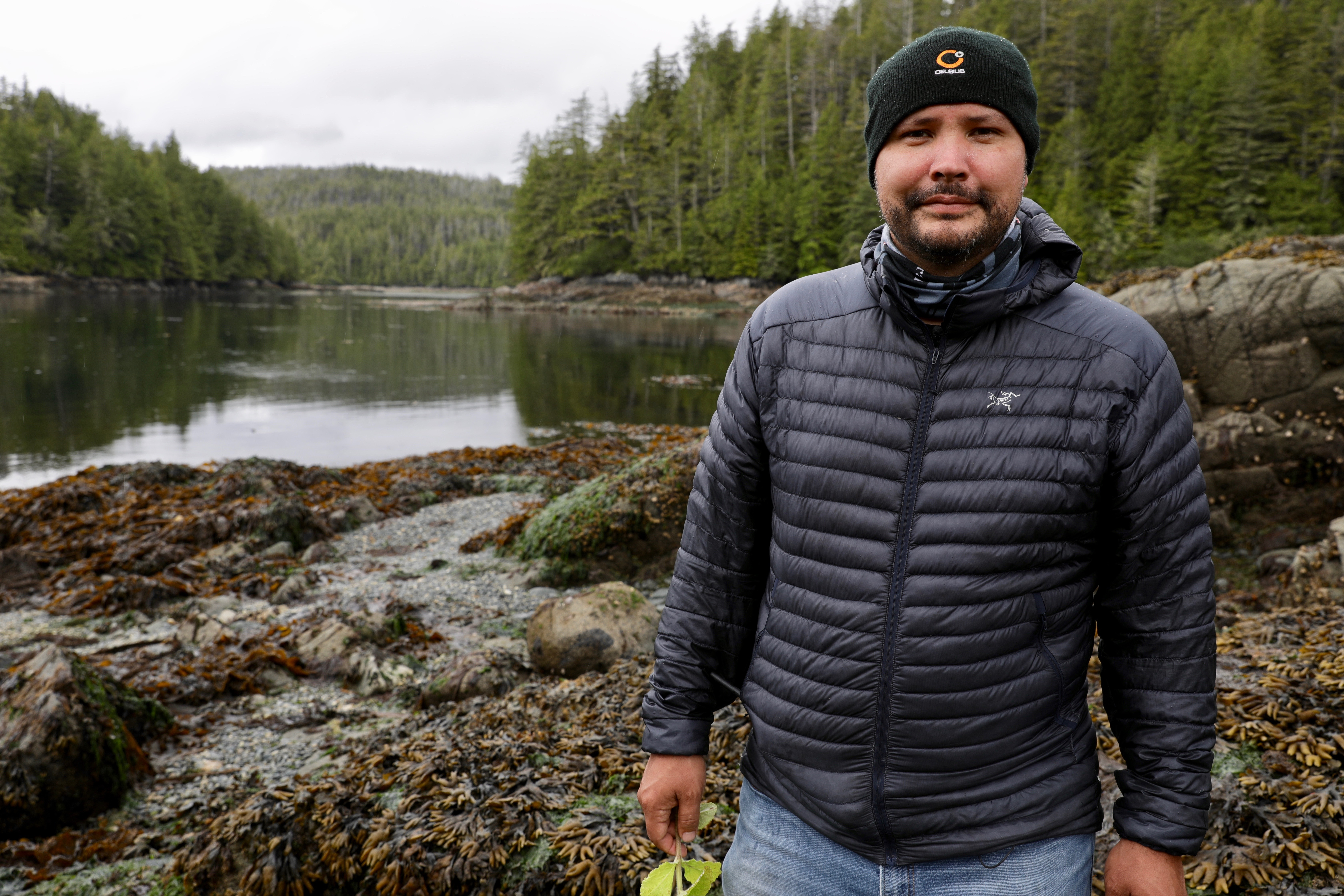 Kwikwasut'inuxw Nation Hereditary Chief Mike Willie hopes the growth of the sea otter population will boost his tourism business in northern Vancouver Island. (Chris Corday/CBC)