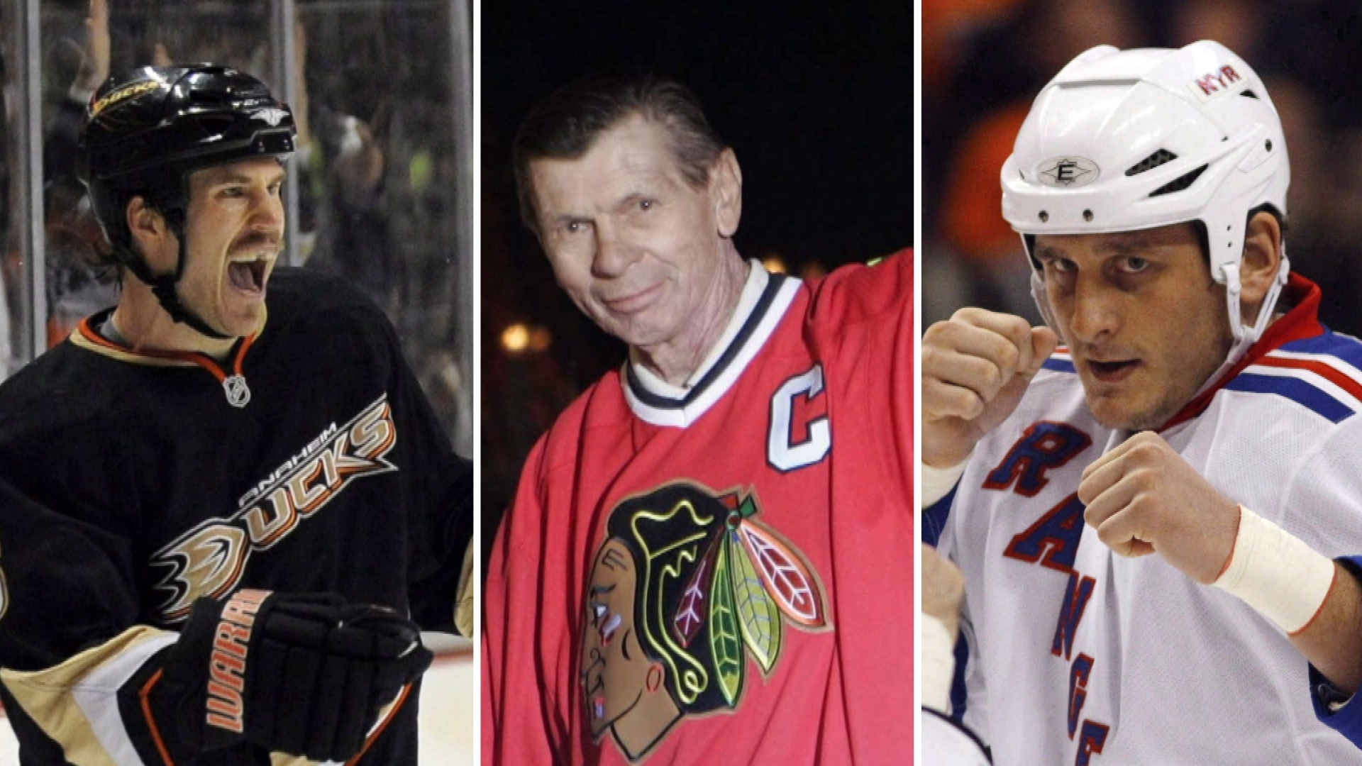 Deceased NHLers Steve Montador, Stan Mikita and Derek Boogaard were all found to have the degenerative brain disease chronic traumatic encephalopathy (CTE) in their brains after post-mortem autopsies. (The Canadian Press/AP)