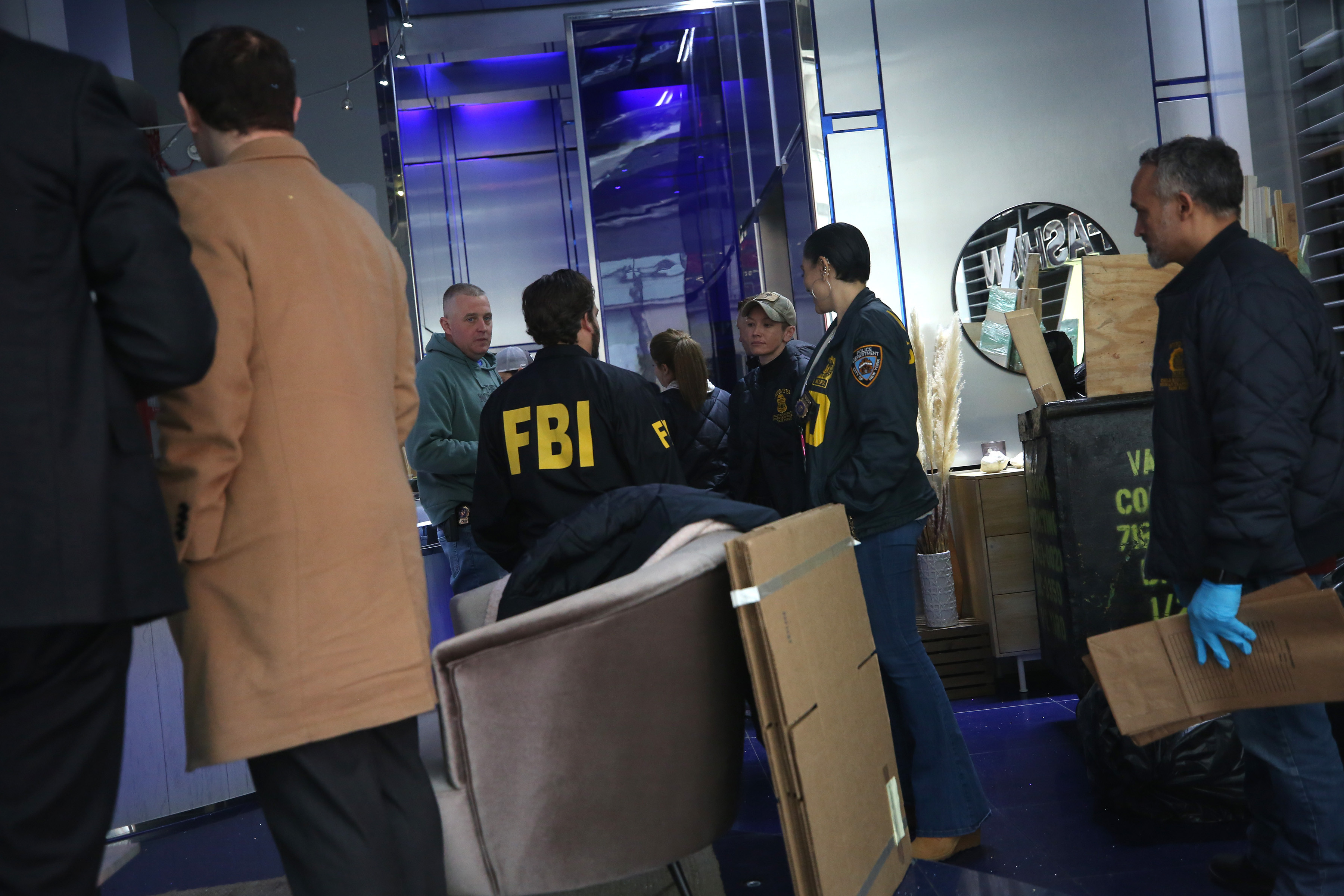 The FBI and the New York Police Department raided Nygard's headquarters in New York on Feb. 25, 2020. Media reported it was part of an investigation into sexual assault allegations. (Earl Wilson/The New York Times )