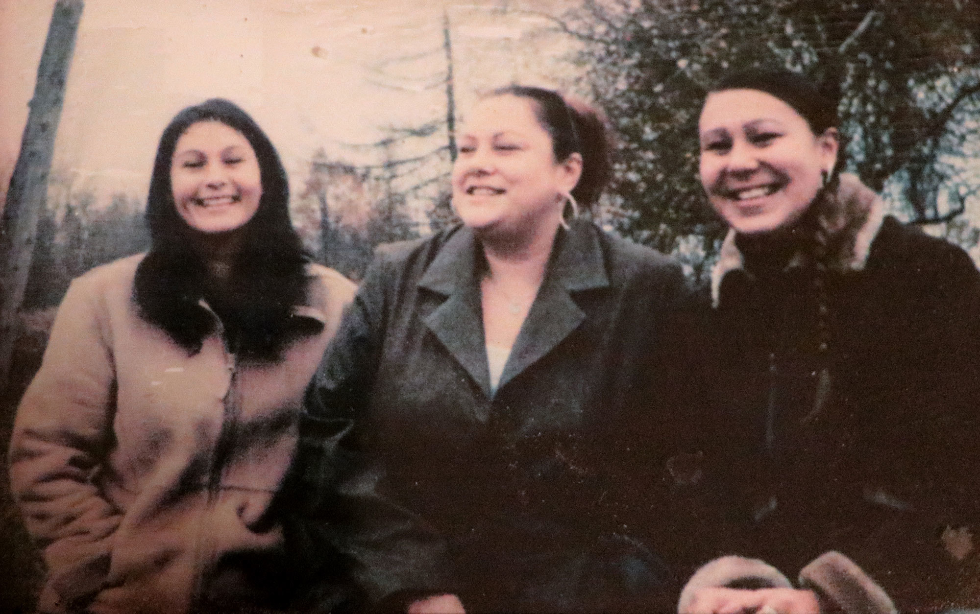 This photo from the early 2000s depicts Nakuset, left, Sonya's daughter Sarah, centre, and Sonya. (Submitted by Nakuset)