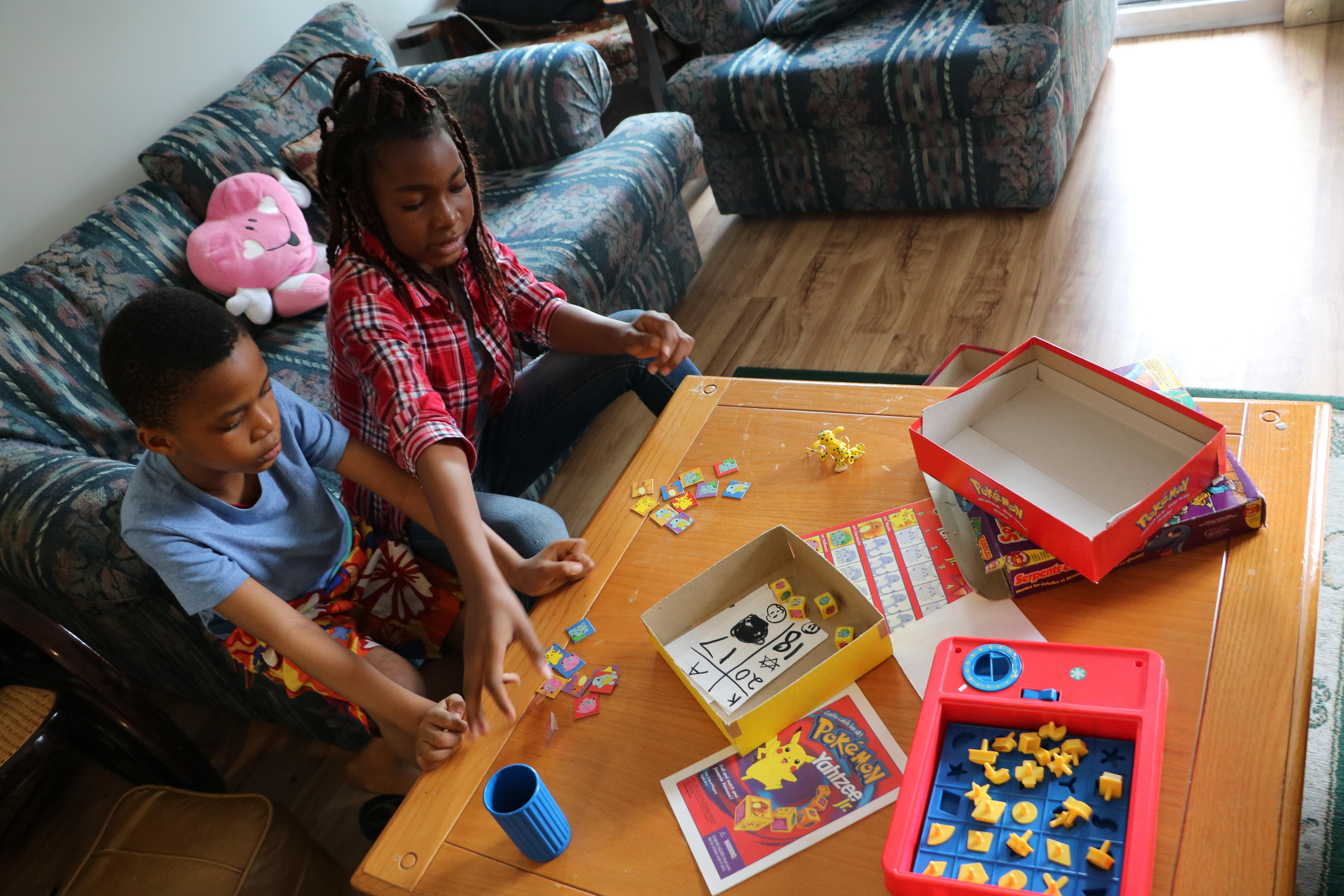 The children won't be in school until next fall, and currently spend their days trying to occupy themselves in the apartment. (Benjamin Shingler/CBC)