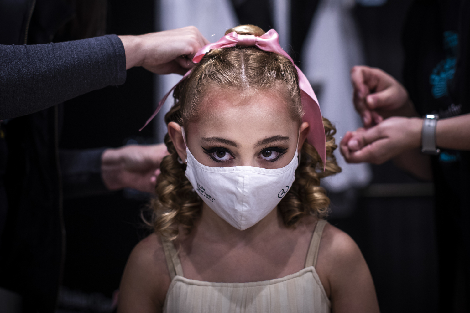 A performer in Goh Ballet's production of The Nutcracker on Nov. 13, 2020. It's being filmed in Vancouver this year due to the COVID-19 pandemic. (Ben Nelms/CBC Vancouver)