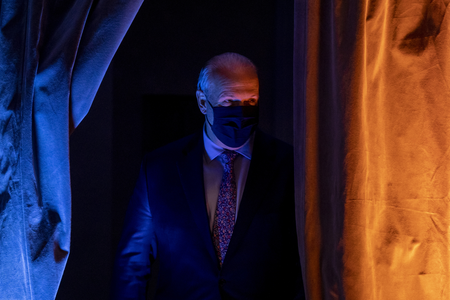 B.C. NDP Leader John Horgan at his campaign headquarters at a hotel in Vancouver on Oct. 24, 2020, after his party was projected to form a majority provincial government. (Ben Nelms/CBC Vancouver)