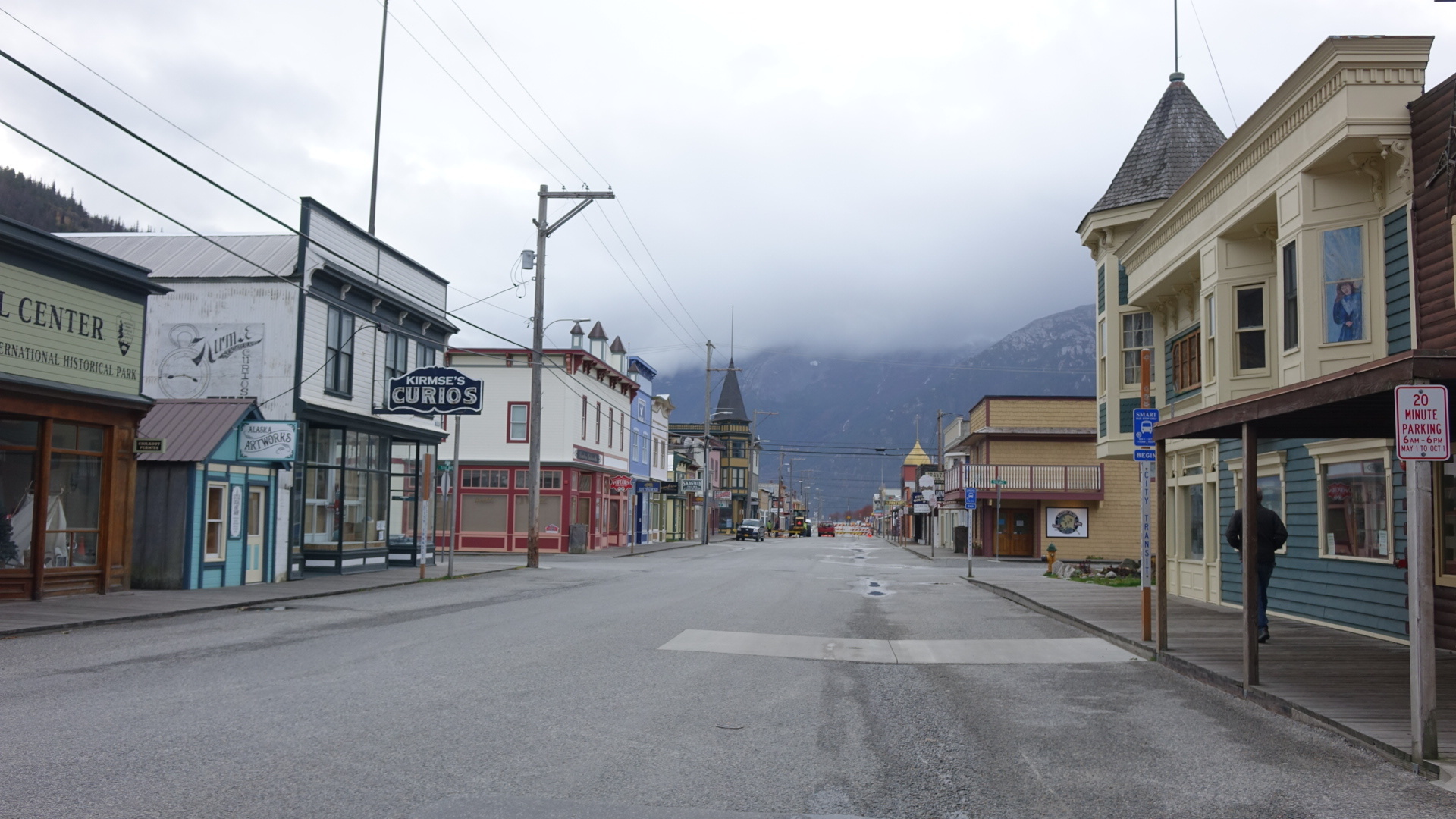 These days, the streets of Skagway are much quieter in the fall. (Claudiane Samson/Radio-Canada)