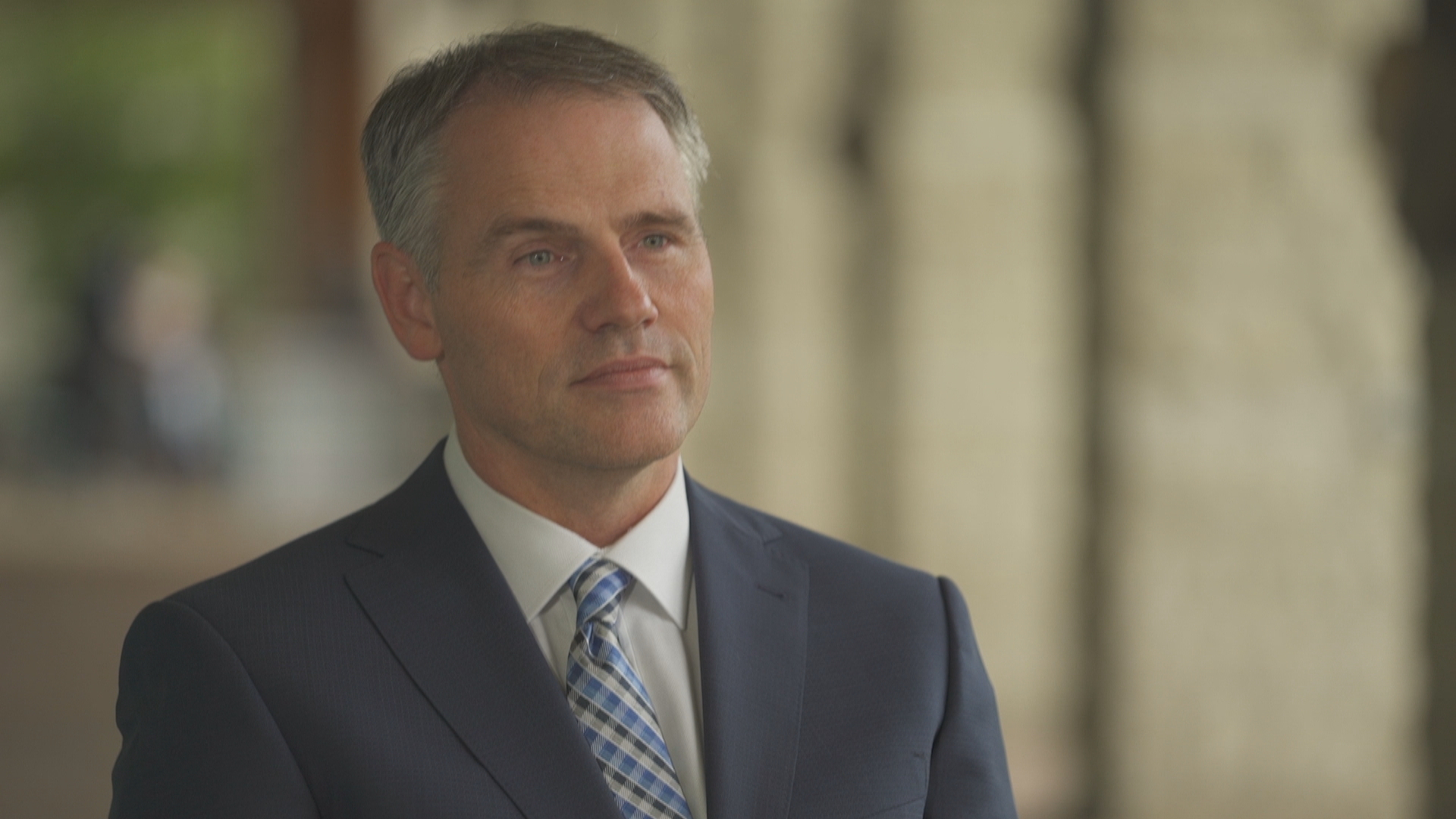 Human rights lawyer Paul Champ represents Jennifer Van Der Zander in her sexual harassment complaint against Ottawa police Deputy Chief Uday Jaswal. (Jean-François Benoît/CBC)