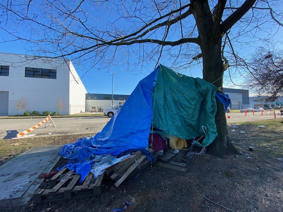 Paul Mocharski, 78, said he spent the better part of the last seven months sleeping under a tarp tied to a park tree. (Stephen Quinn)