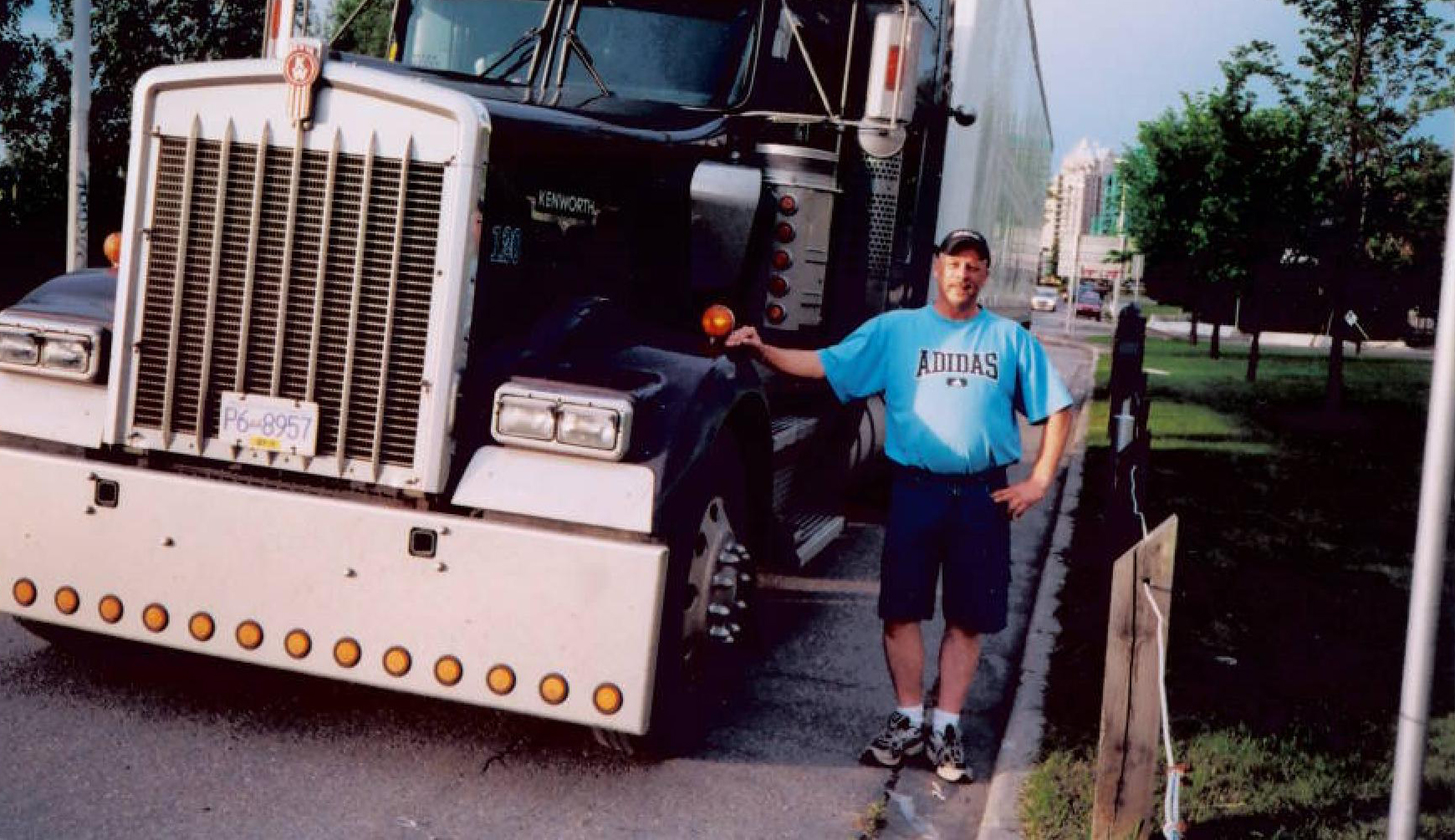 Peter Schnellhardt worked as a truck driver when he lived in Calgary. (Submitted by Petra Bunn)